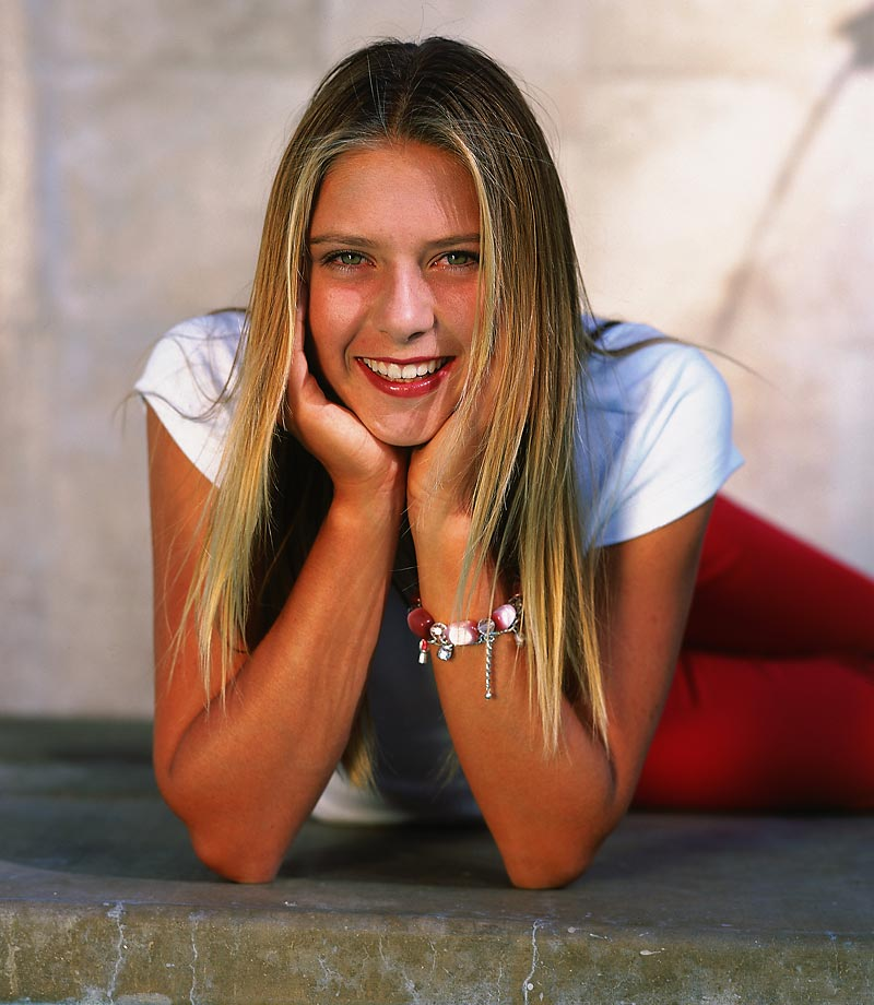 Another pose by the 15-year old Sharapova.