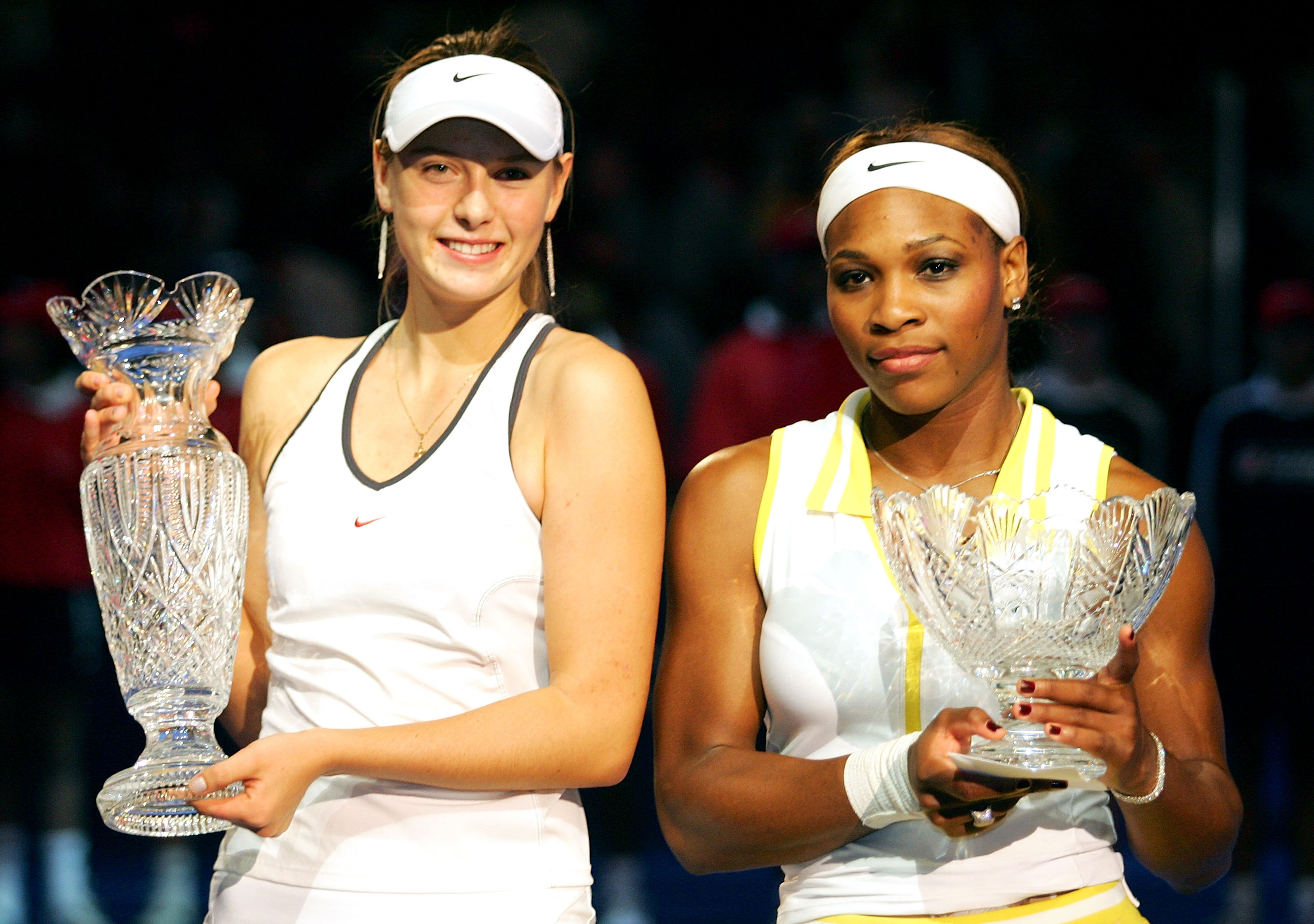 Sharapova went on to win her only WTA Finals title, beating Serena in three sets after trailing 0-4 in the third. She has not beaten Serena since.