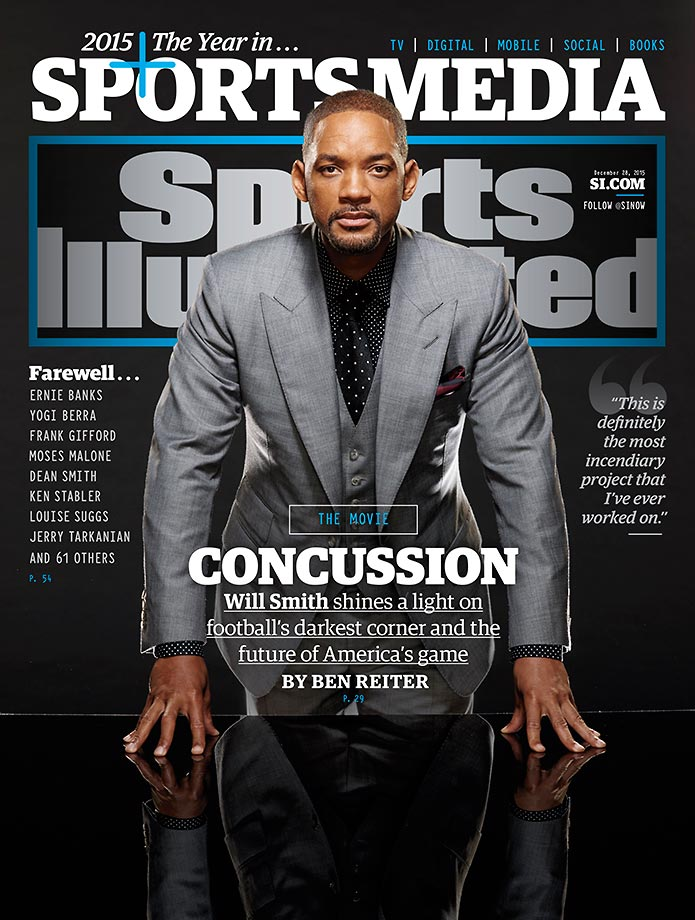 December 21, 2015 | This week's cover of Sports Illustrated features actor Will Smith ahead of the Christmas Day release of the movie Concussion.