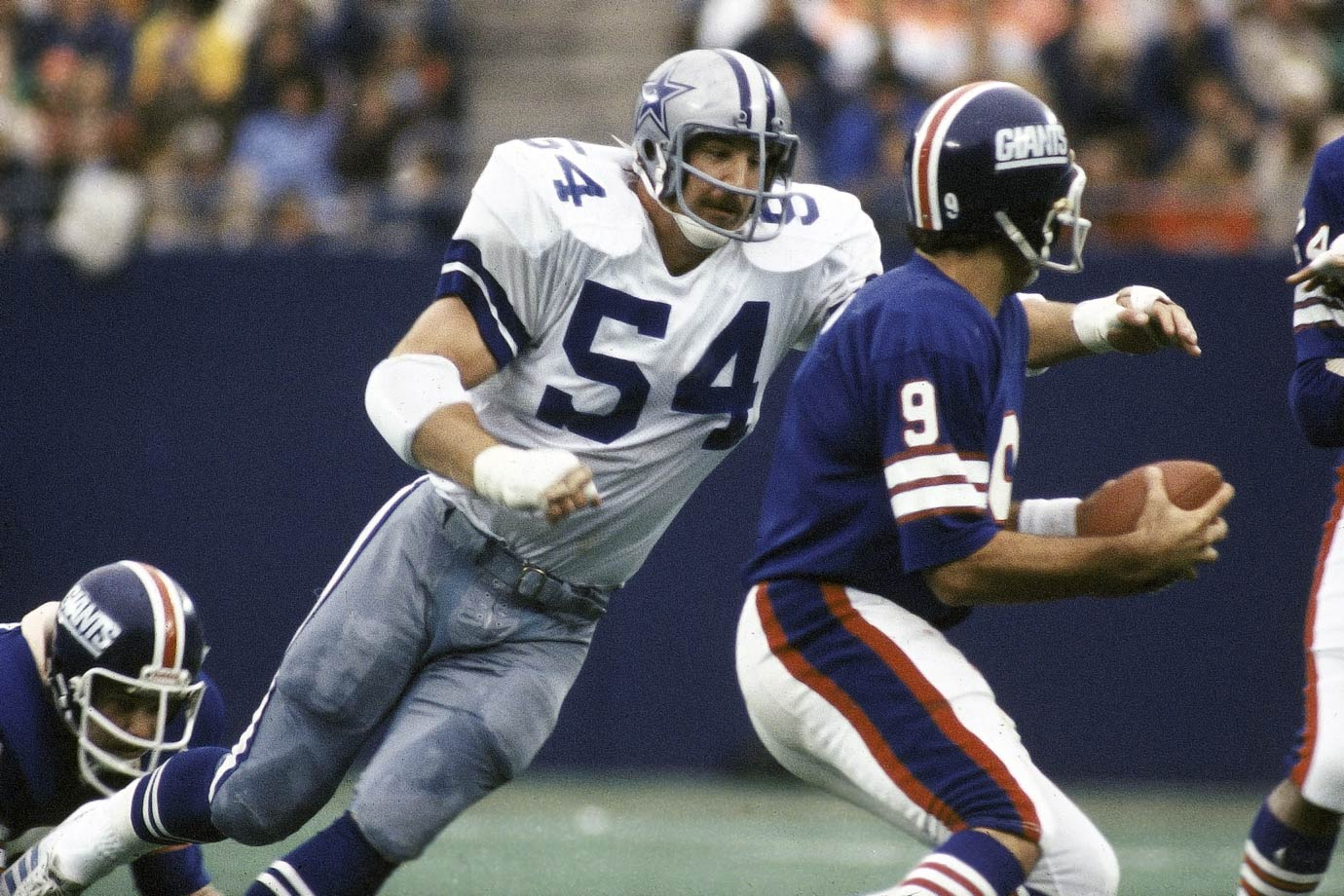 One of the most intimidating, consistent, and technically-sound players of his era. The Cowboys tried White at linebacker for two seasons, and then got it right when they moved him to tackle in 1977. For his career, White was credited with 1,104 tackles, 701 solo tackles and 111 sacks, made nine Pro Bowls and seven First-Team All-Pro selections, and was the Super Bowl XII co-MVP.