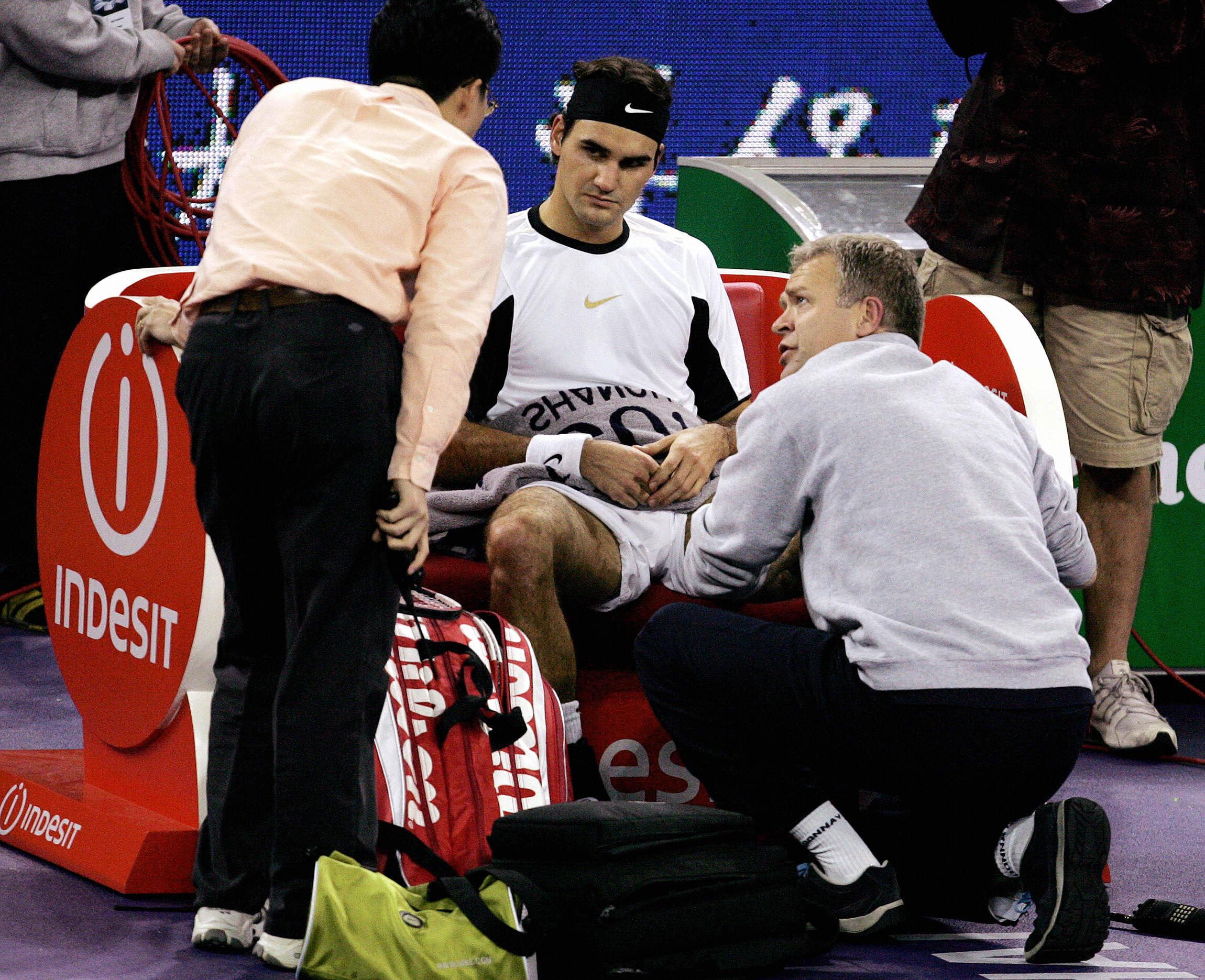 A rare MTO for Federer.