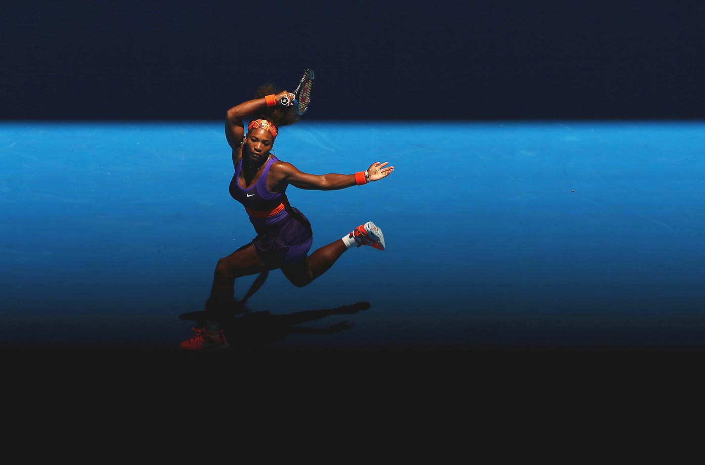 Serena plays a forehand during the 2013 Australian Open. She lost in the quarterfinals to Sloane Stephens, who later in the year said several critical remarks about Williams.