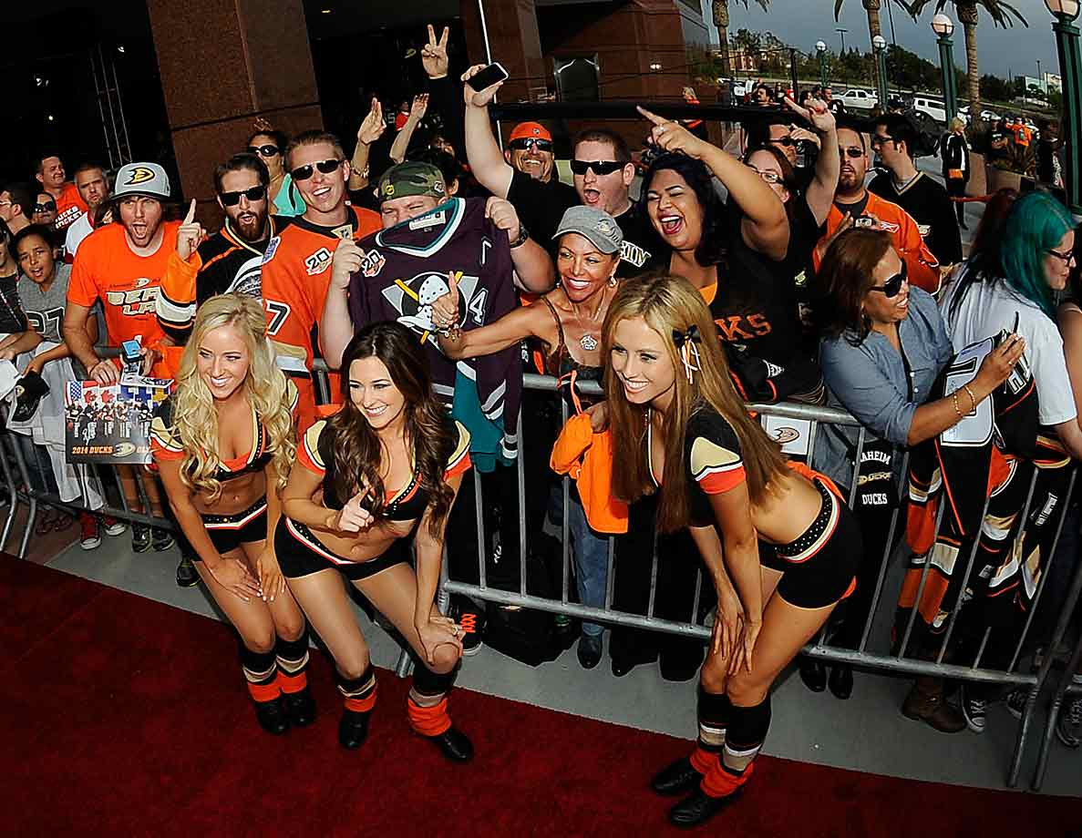 Anaheim greeted the new season in style before the Ducks' home opener against the Wild on Oct. 17.