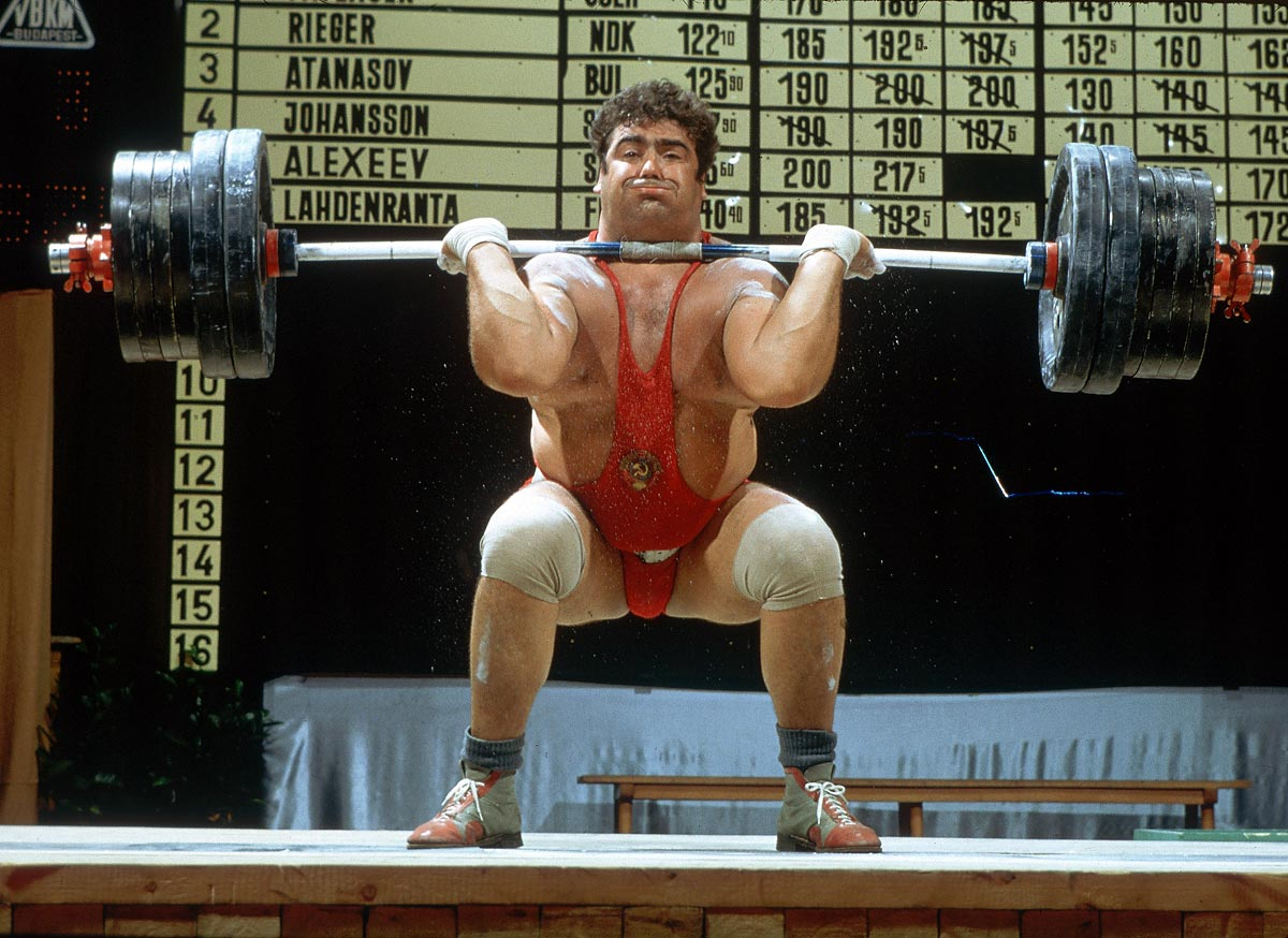Clean & Jerk, January, 1969 | Russia's Vasily Alexeyev completes a Clean & Jerk during a weightlifting competition in 1969. Alexeyev set 80 world records between 1970 and 1977, and is widely considered the greatest heavyweight weightlifter of all time.