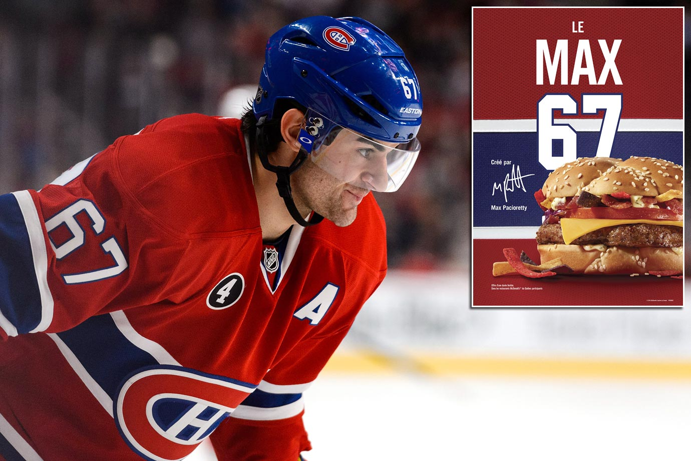 It's not the most famous jersey number in NHL history, but that might change if the Max 67 burger introduced this spring in his honor at McDonald's across Quebec takes off.