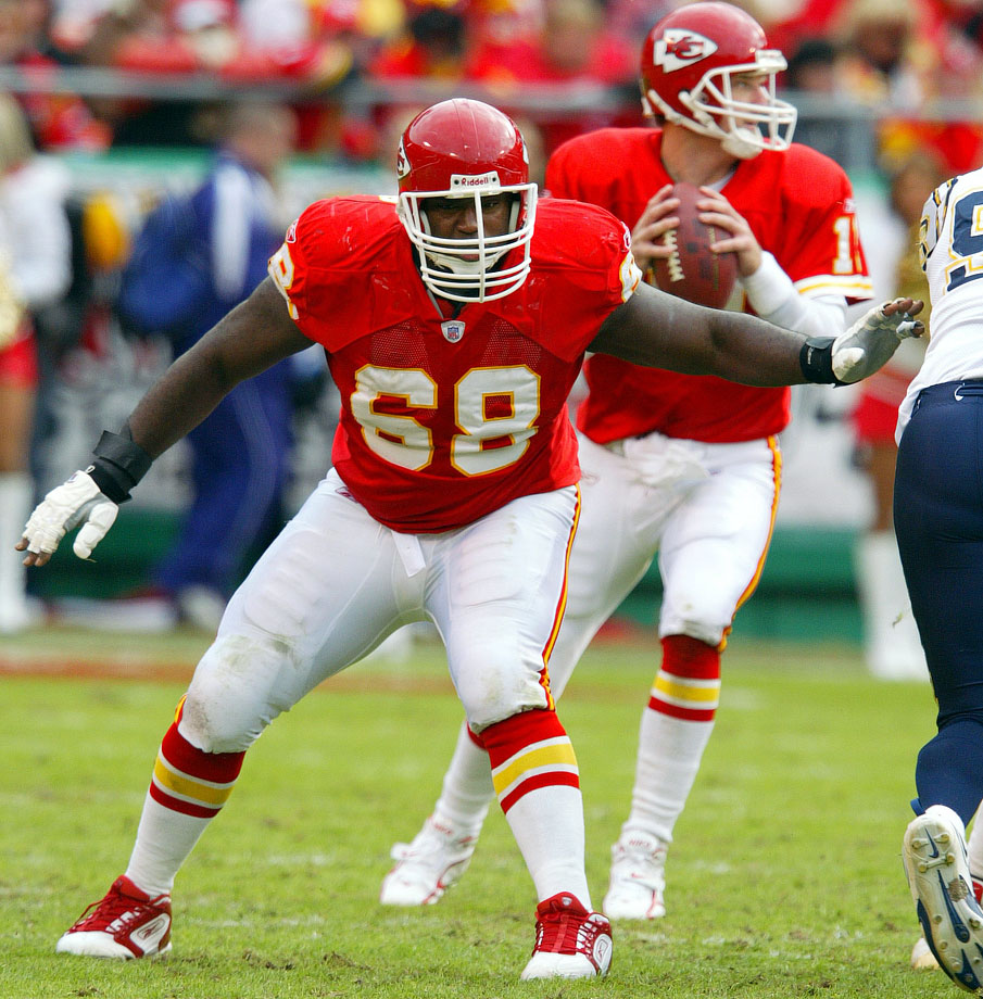 The Chiefs put Shields in his first NFL game after an injury to starter Dave Szott in 1993, and Shields never missed a game for the team until his retirement in 2006. He made 12 Pro Bowls and two first-team All-Pro squads in his career, and his rookie season marked the first division crown for Kansas City since 1971. The Chiefs led the NFL in total yards in 2004 and 2005, and Shields was a big part of that.