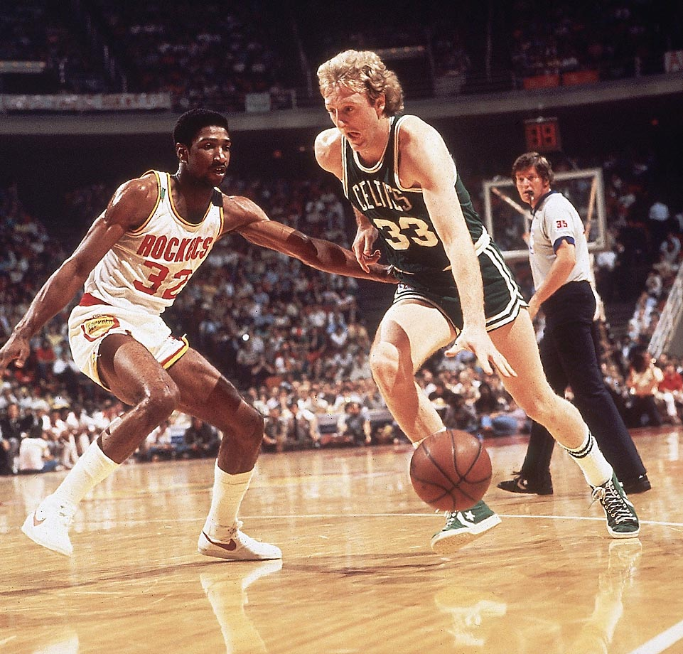 In 1981 it was Larry Bird's Celtics establishing themselves against the Rockets and dominant center Moses Malone.