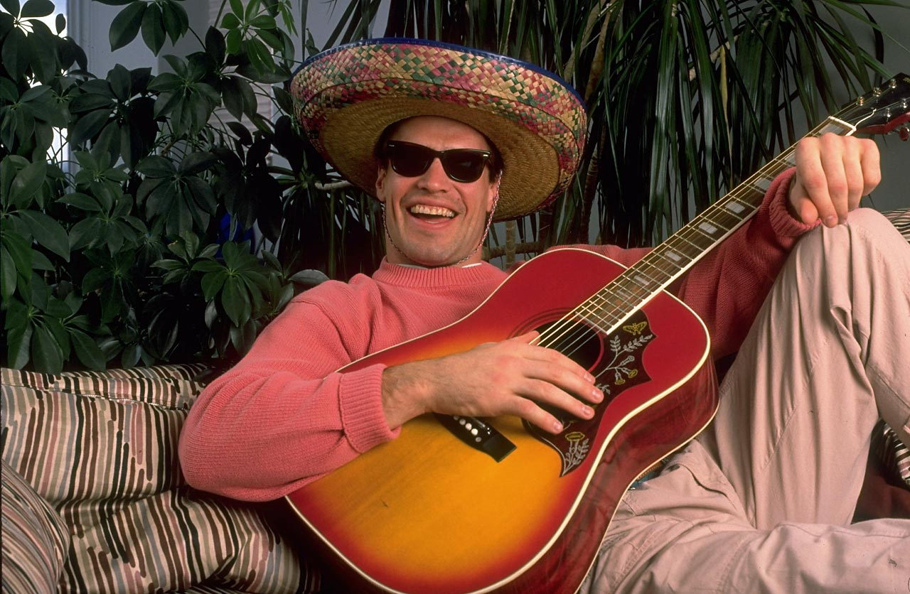 Edmonton Oilers captain Mark Messier lounges in a sombrero in 1988, one month before winning his fourth Stanley Cup with the team.