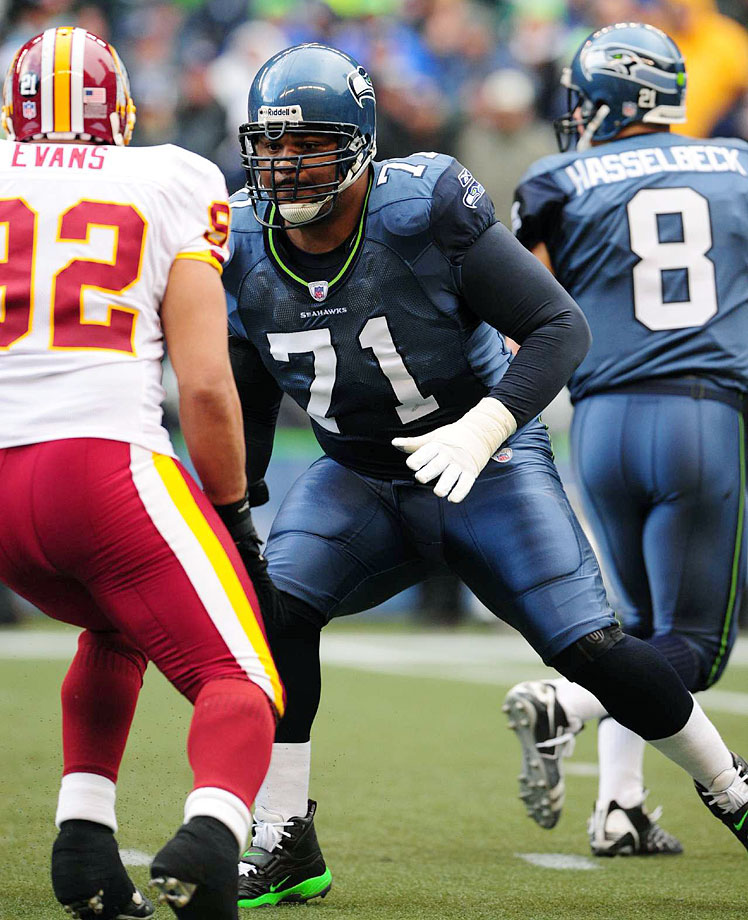 Jones is the best player in Seahawks history and arguably the best tackle in an era that also featured Jonathan Ogden and Orlando Pace. At his peak, Jones was able to do everything you'd expect from a blocker, shutting down the game's greatest pass rushers and dominating in the run game. His block on Carolina's Mike Rucker in the 2005 NFC Championship Game is perhaps the most unforgettable play in Seattle football annals. Jones made nine All-Pro teams and four first-team All-Pro squads in his career.