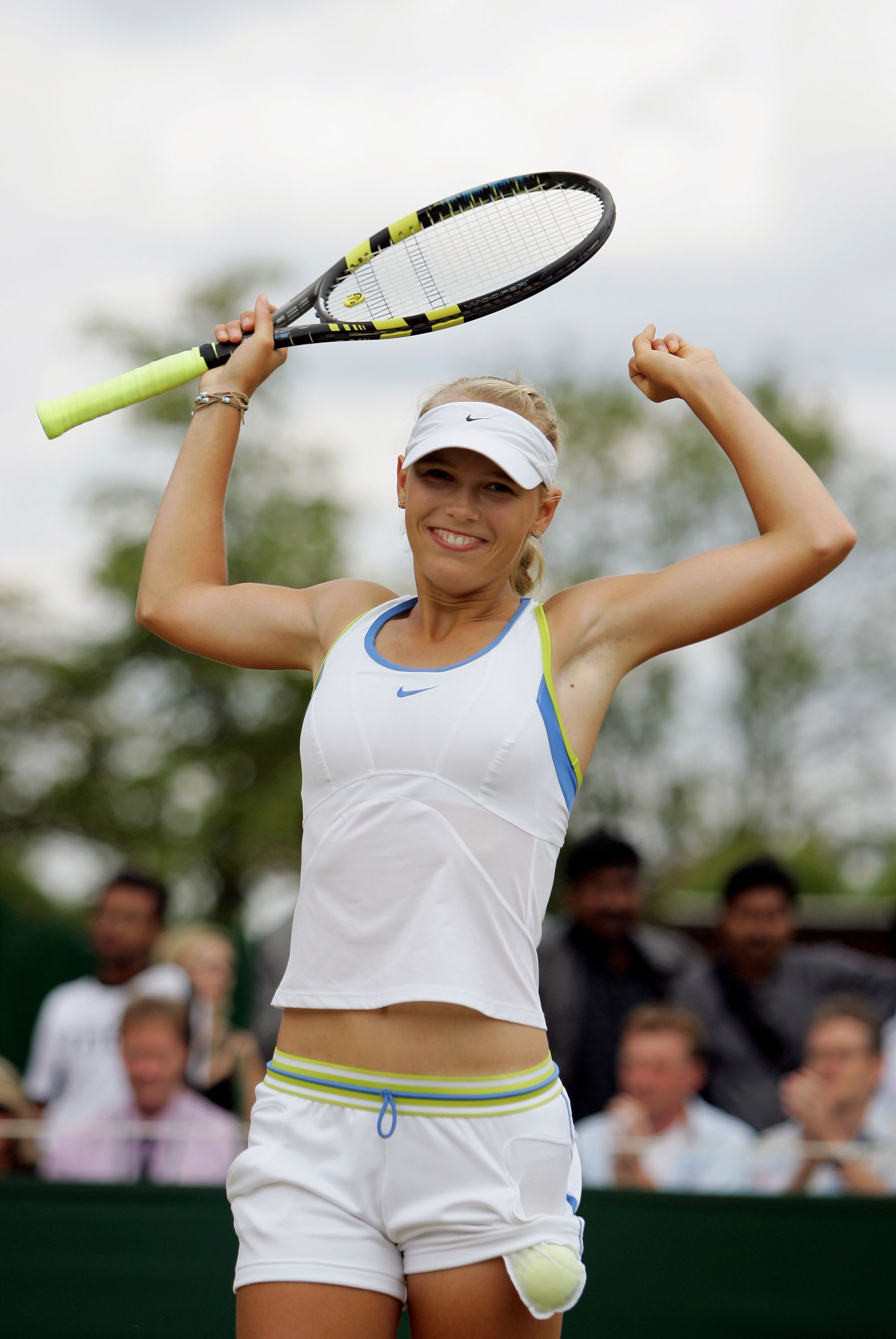 Wozniacki wasn't always with Adidas. She won her junior Wimbledon title (defeating Magdalena Rybarikova) in Nike.