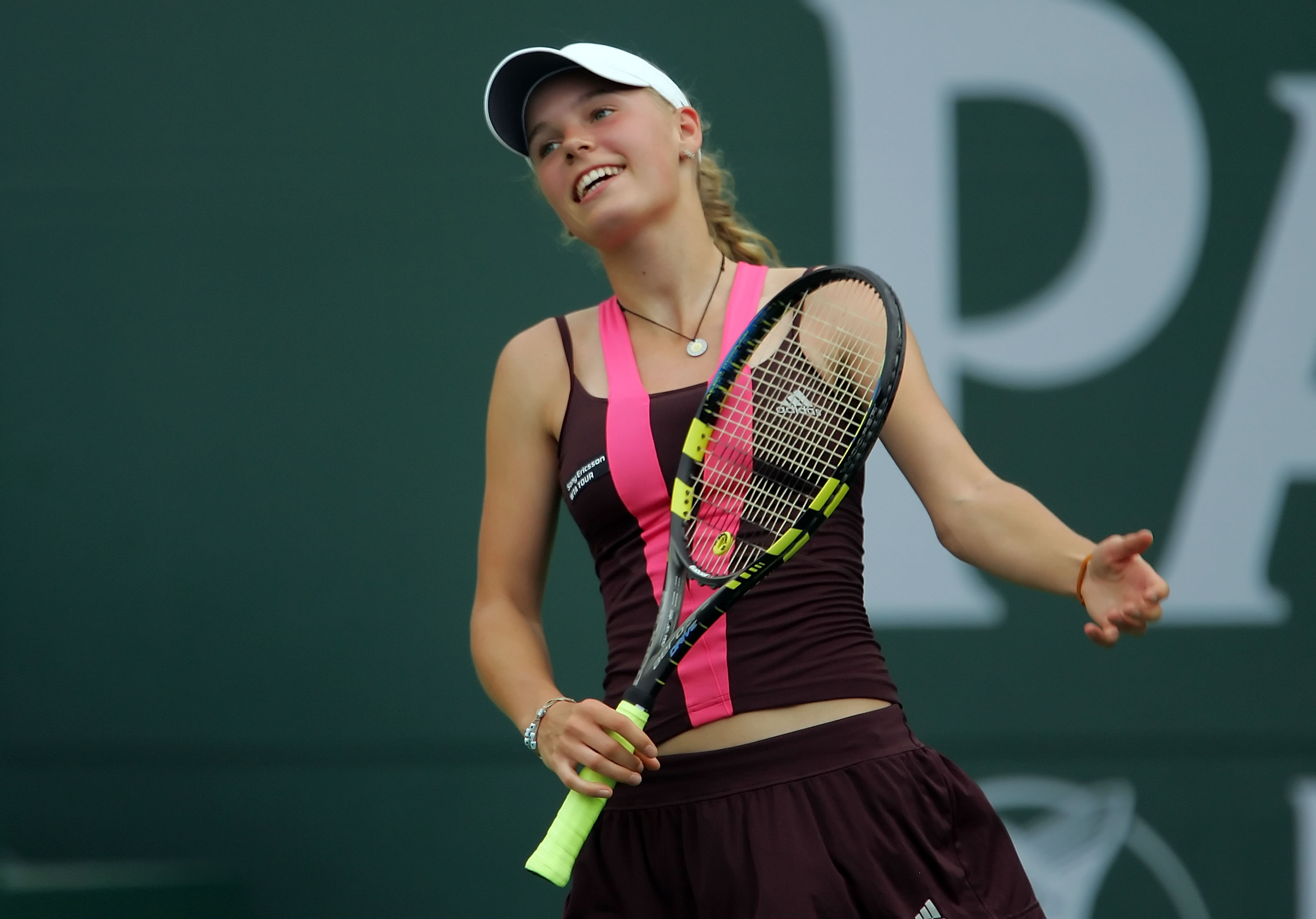 Wozniacki signs with Adidas. And then they did this to her.