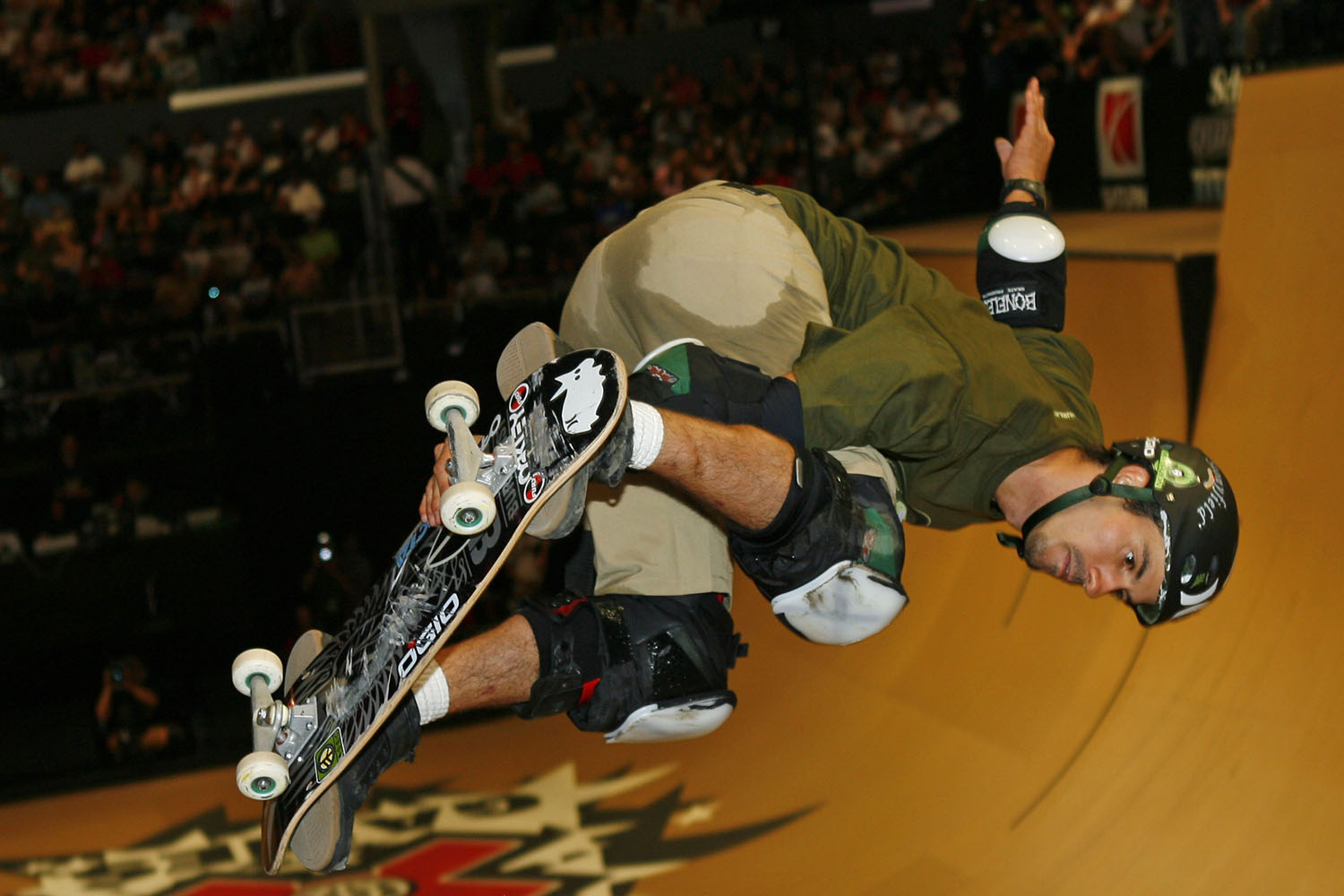 Men's Skateboard Vert silver medalist Bob Burnquist in action during X Games 12.