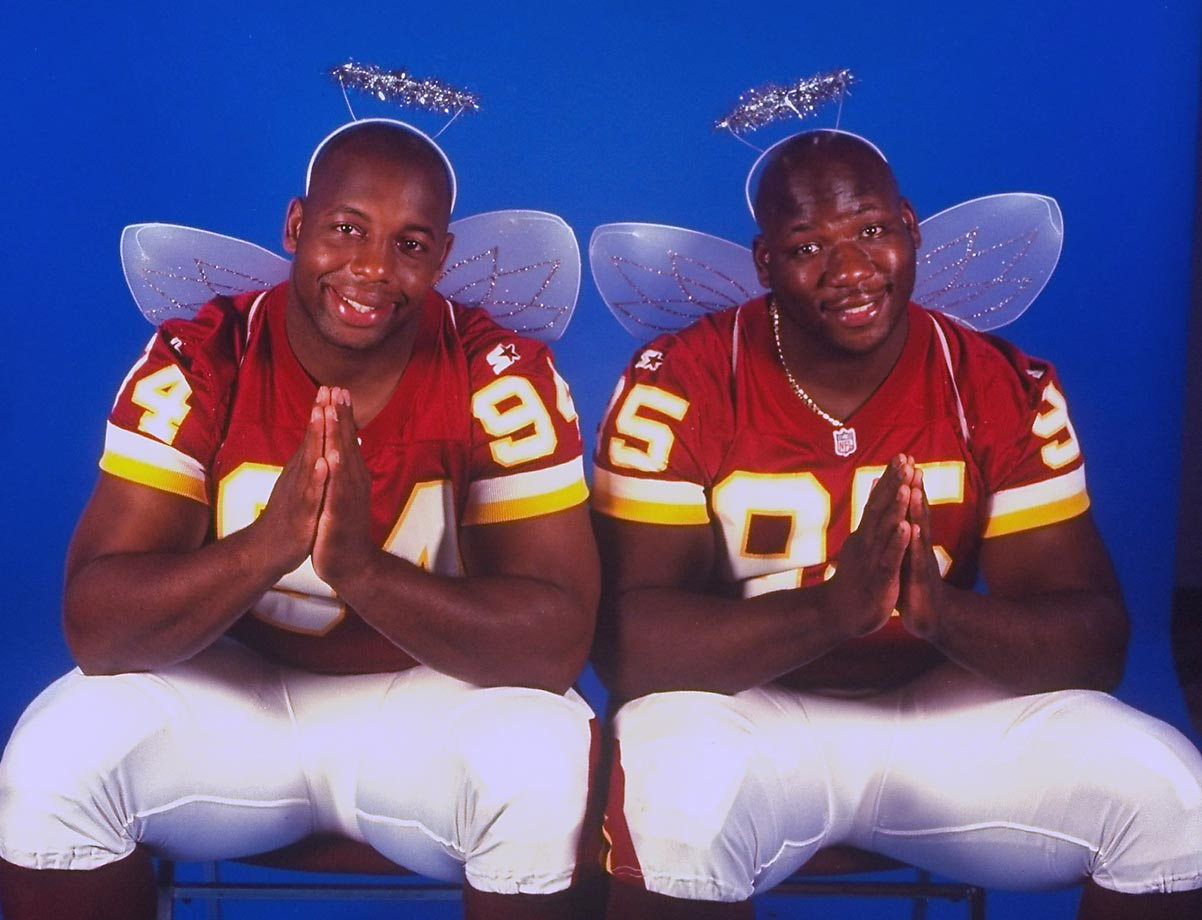 There was nothing angelic about Redskins defensive tackles Dana Stubblefield and Dan Wilkinson, who were both signed in 1998 to raise hell against opposing quarterbacks. The tandem wasn't as productive as the team would've hoped, however, with each of their numbers declining steadily throughout their tenures.
