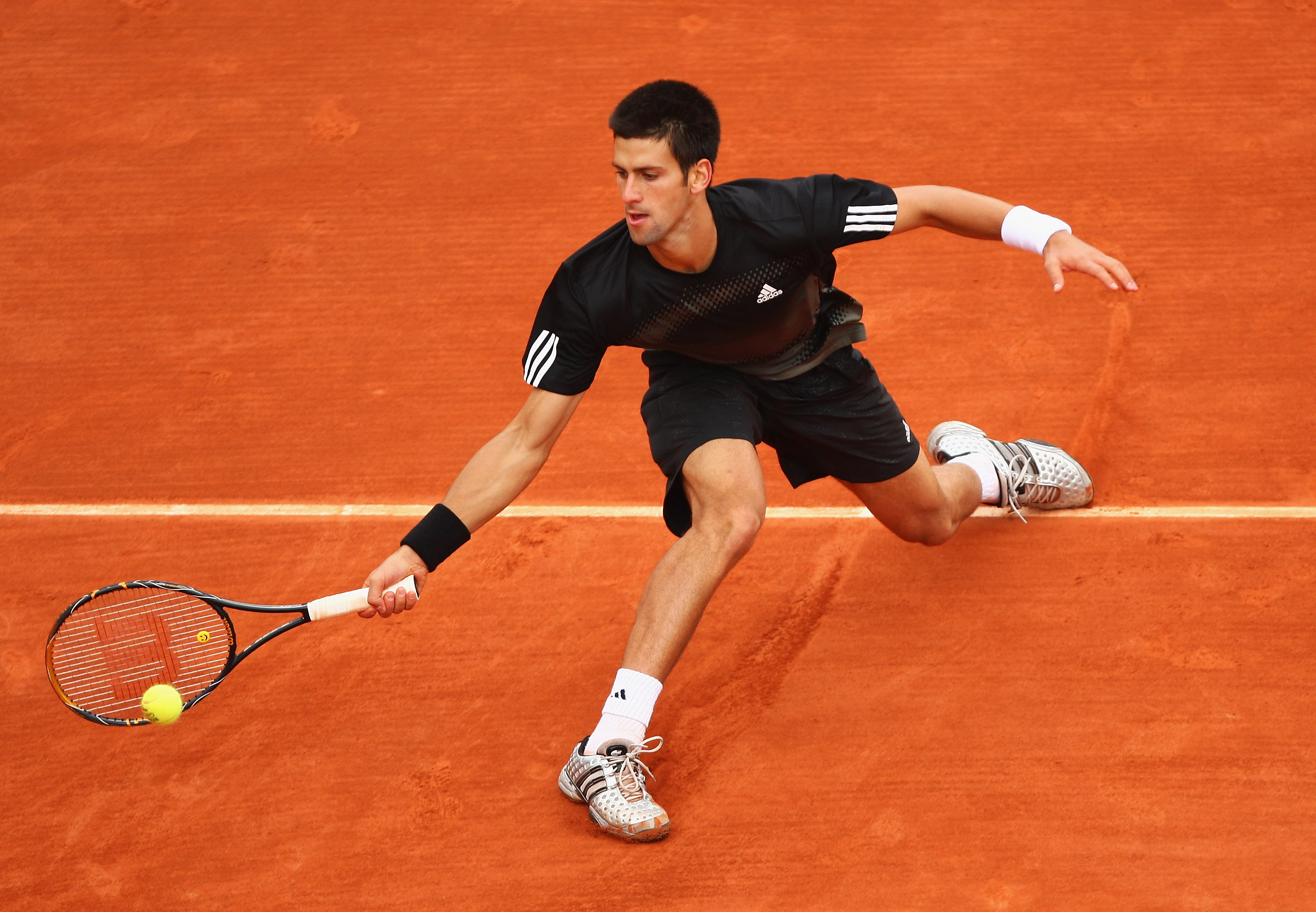 The monochrome continued through the French Open.