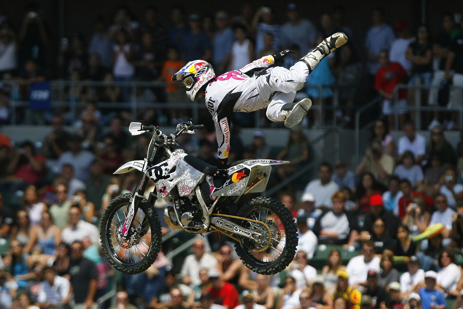 Gold medalist Travis Pastrana during Freestyle Moto X finals at X Games 12 at the Home Depot Center in Carson, California on August 6, 2006.