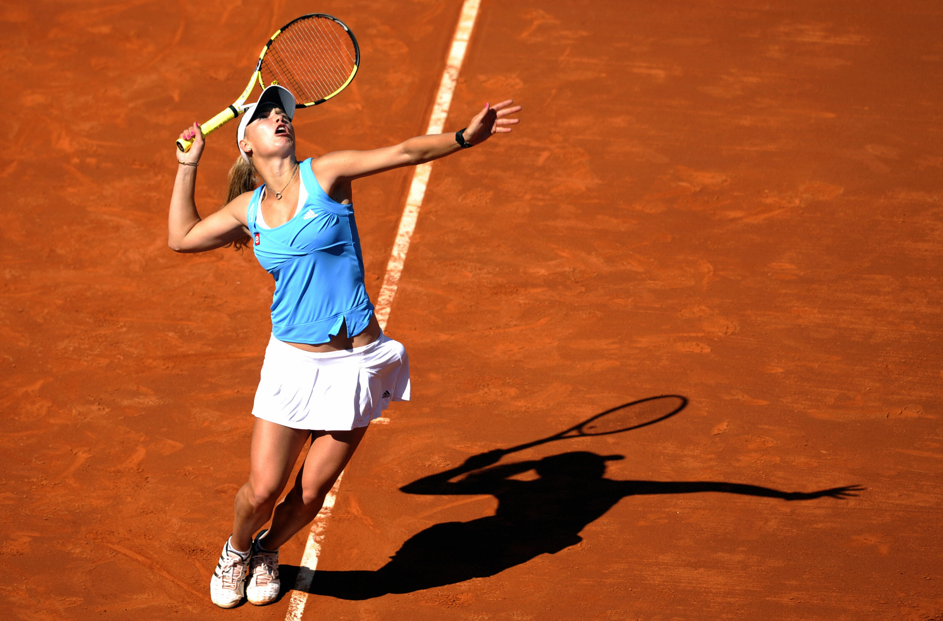 Wozniacki preferred wearing separates over dresses during her early days with Adidas.