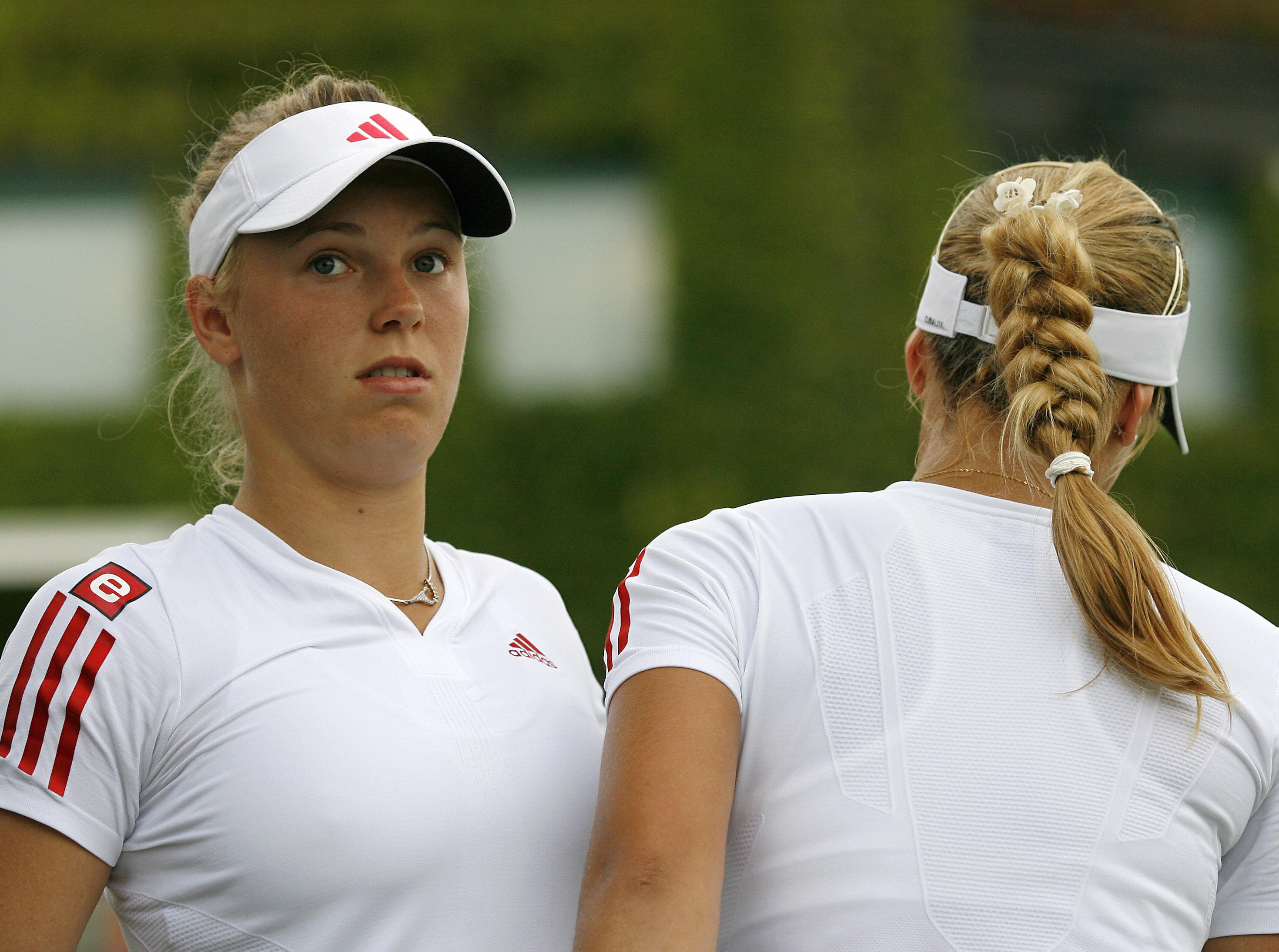 ...especially when it was involved in one of the more infamous changeover bumps between Wozniacki and Sabine Lisicki, who was decked out in the same kit.