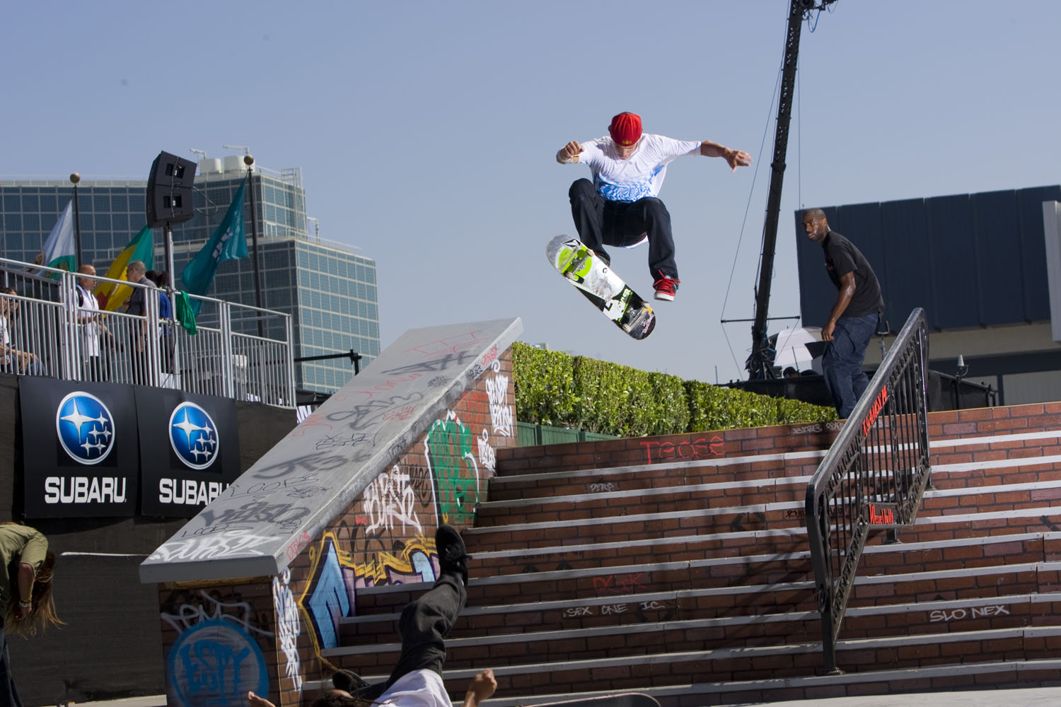 Ryan Sheckler competes in the qualifying round in Skateboard Street at X Games 14.