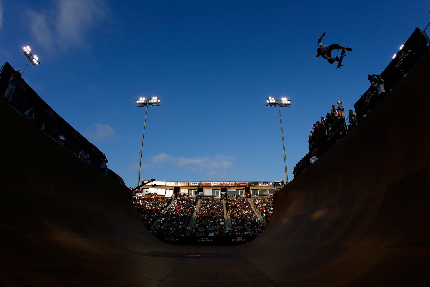 Rob Lorifice competes in the Men's Skateboard Vert event during X Games 15 at the Home Depot Center on August 1, 2009 in Carson, California.