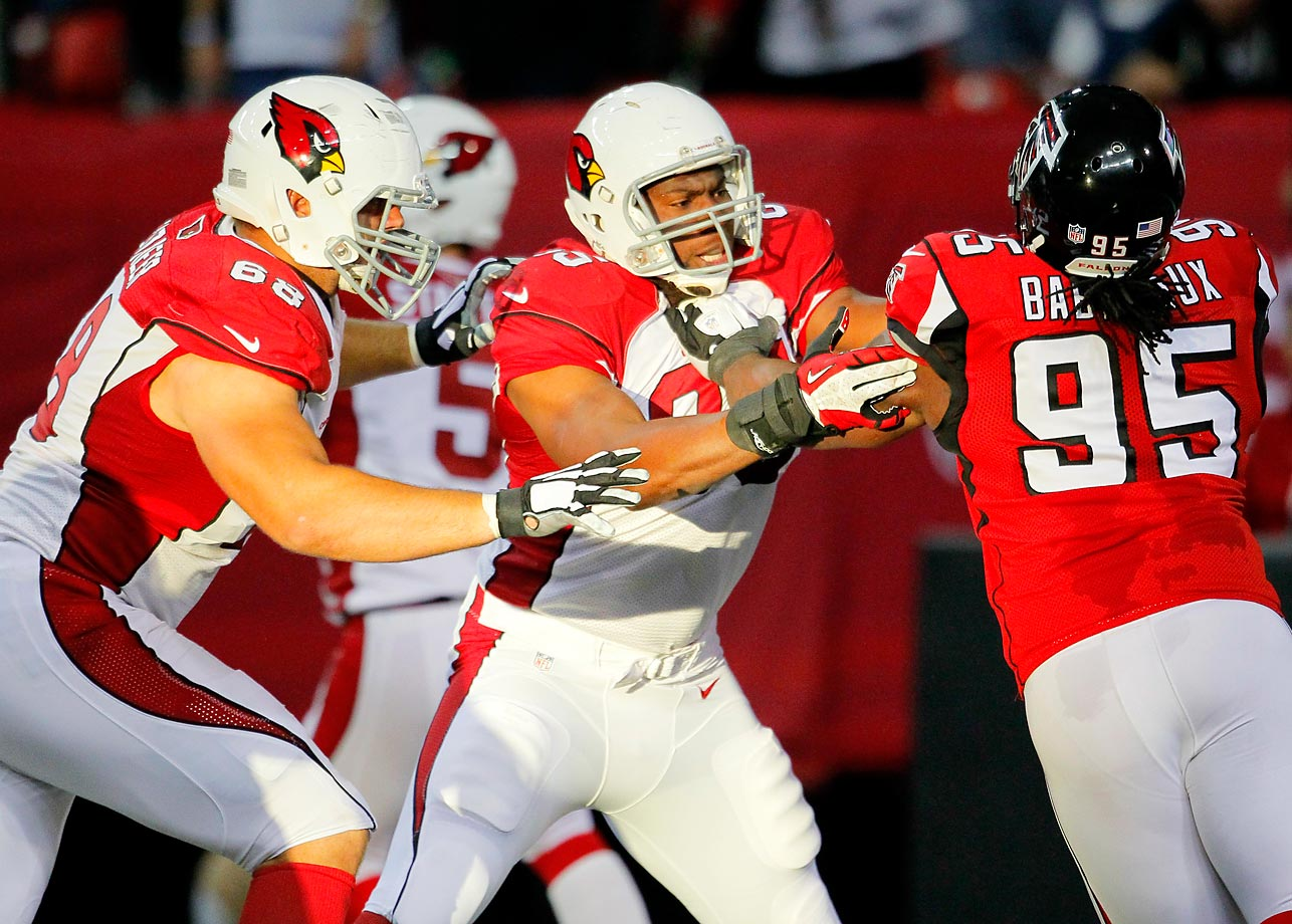 Once a sieve all along the line, the Cardinals have made serious investments to the front five in recent years, and it's paying off. Left tackle Jared Veldheer (pictured) got a five-year, $35 million deal in free agency before the 2014 season and allowed just one sack in 1,089 offensive snaps. This off-season, the big investment was former 49ers left guard Mike Iupati, who will bring a very nasty demeanor to Arizona's run game.