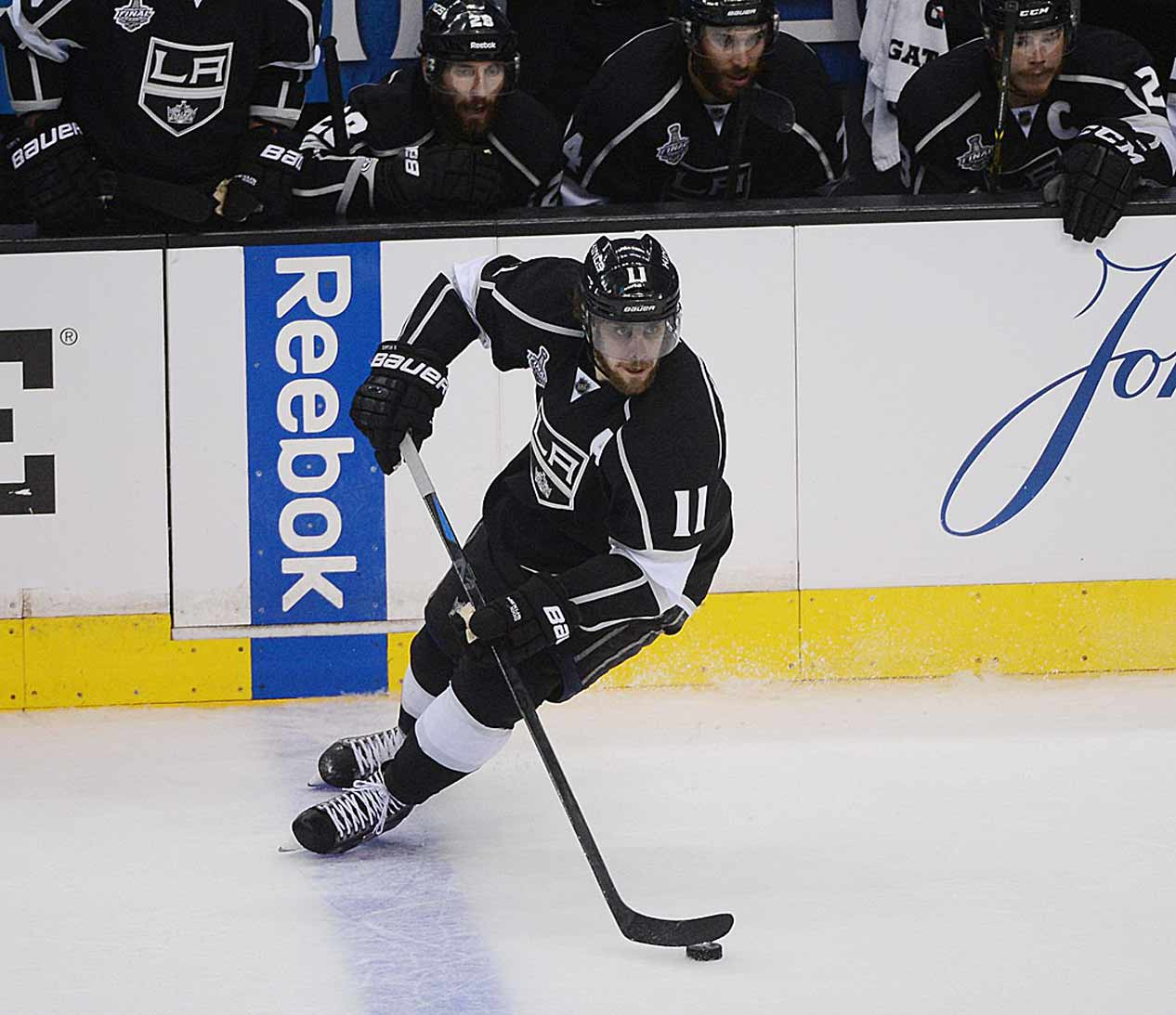 One of the NHL's most complete forwards, Kopitar is finally getting his just recognition. He led the league in playoff scoring during each of the Kings' championship seasons, totaling 46 points in 46 games in 2012 and '14, and was a finalist for the '14 Selke Trophy as the game's top two-way forward.