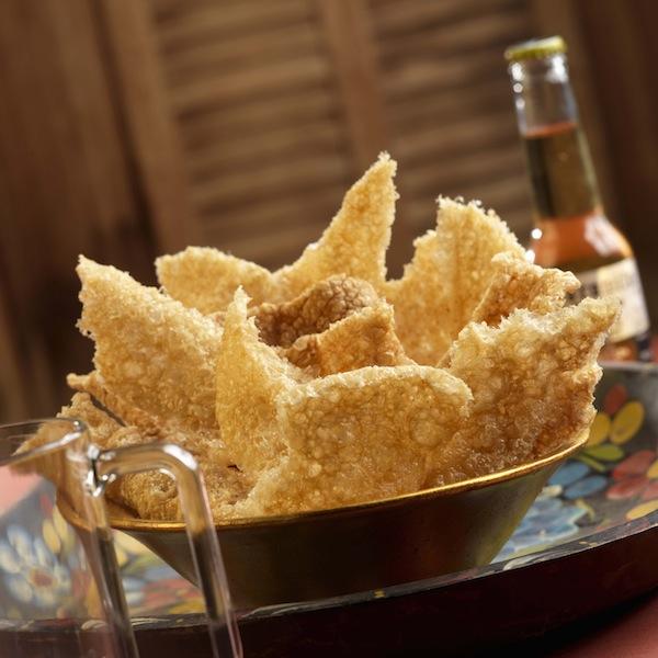 Pork rinds (NOT chips)