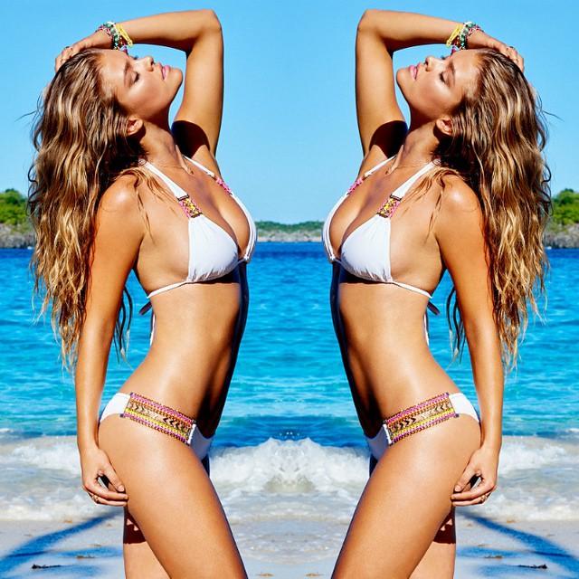 Hips don't lie | All new details on 'Belize Beauty' #beachbunnyspringbreak #bikini #ninaagdal