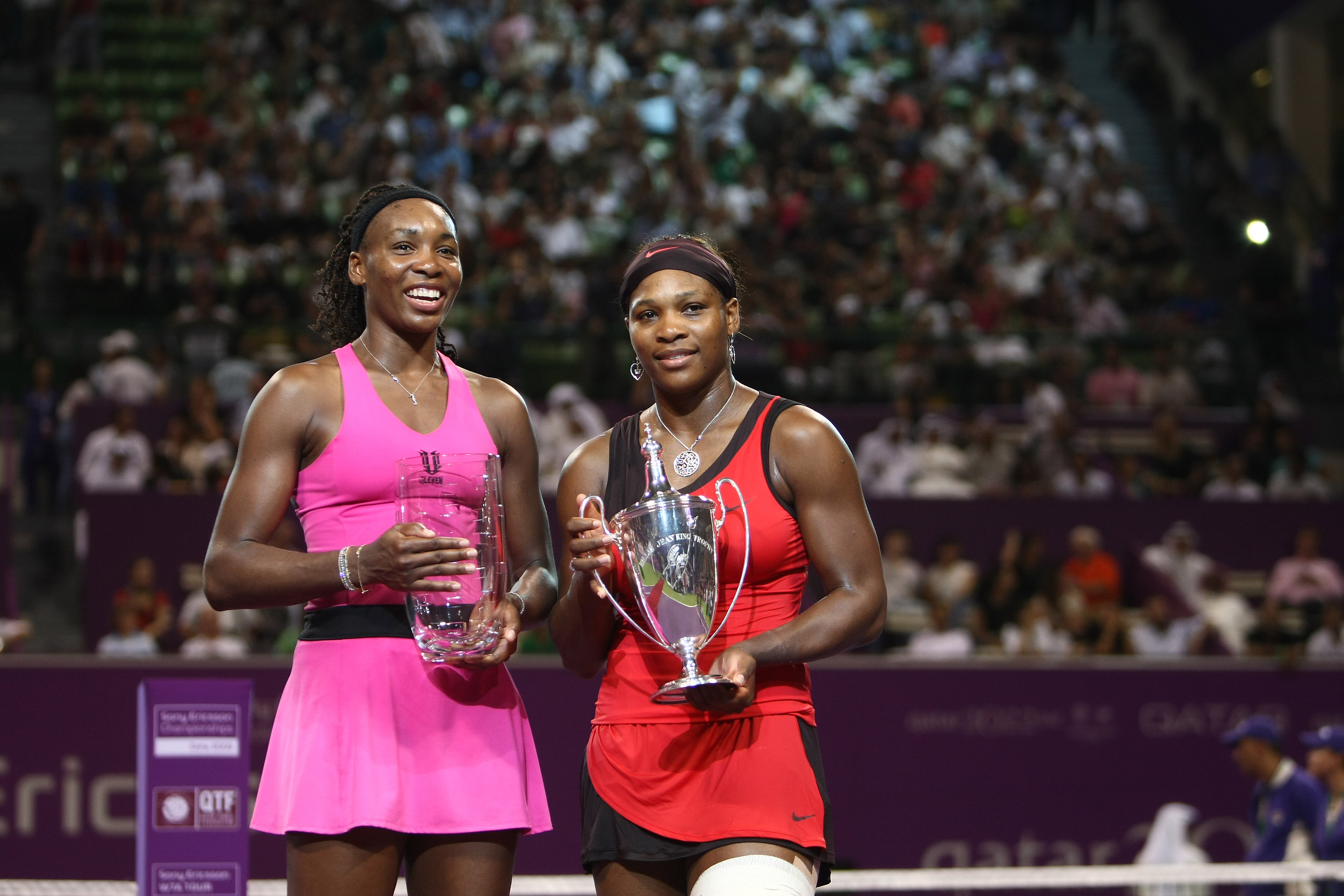 And in the first all-Williams final of the tournament, Serena came out on top.