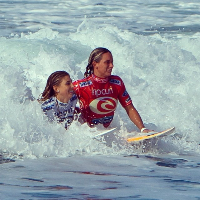 Courtney Conlogue ran track and played soccer as a child, but when she first hopped on a surfboard at the age of four, the Santa Ana, Calif. native fell in love. Since then, 21-year-old Conlogue has idolized older surfing stars like Stephanie Gilmore and climbed up the ASP World Championship Tour rankings. She's been battling an ankle injury recently, but still holds the 10th slot. To see how this surfer chick spends her days, check out Conlogue on Instagram @courtneyconlogue.