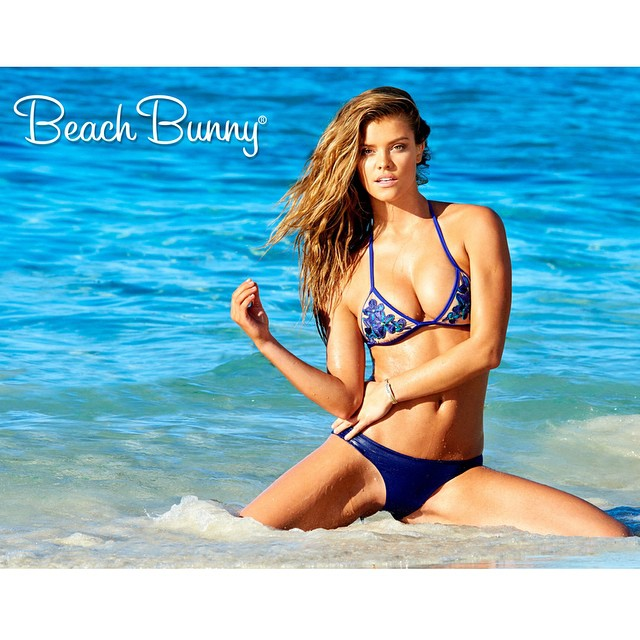 Just Launched: Spring 2015 Swim | shop feed link in bio | #BeachBunny @ninaagdal | photo @yutsai88 • hair @jrugg8 • makeup @allanface emoji #beachbunnyspringbreak #yutsaiphoto #ninaagdal