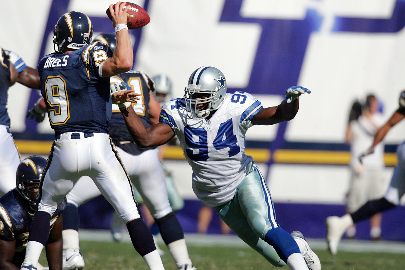Charles Haley almost made the cut here, but we went with another former Cowboys pass rusher. Ware amassed 117 sacks over his eight seasons in Dallas, leading the league in 2008 and '10. He fell off a bit when schematic changes limited his role, but he picked up 10 sacks with the Broncos in '14 and appears ready to maintain his Hall of Fame trajectory.