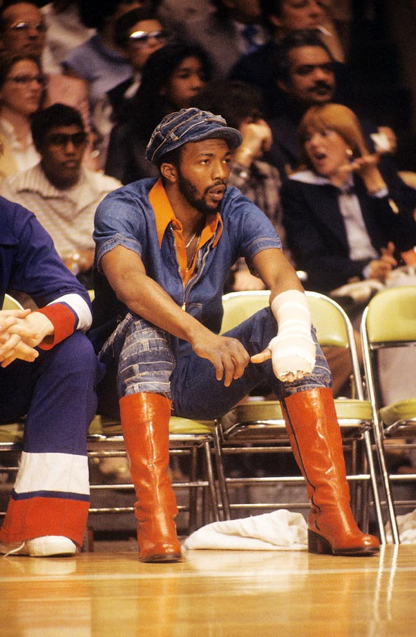 "Pistons power forward Marvin ""Bad News"" Barnes deals with some bad news of his own, a nasty hand injury that kept him sidelined for part of his first NBA season, in 1977."
