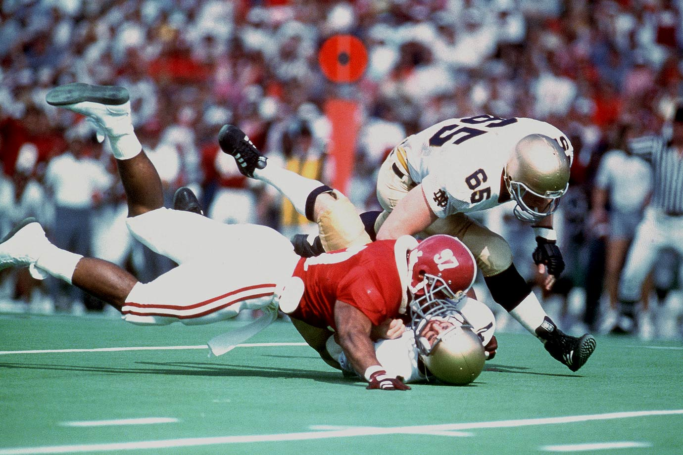 Bennett was elected as Alabama's ''Player of the Decade'' in the 1980s with good reason: He was a two-time All-America (1985 and '86) and won the Lombardi Award in 1986. — Runner-up: Tommie Harris, DT, Oklahoma (2001-03)