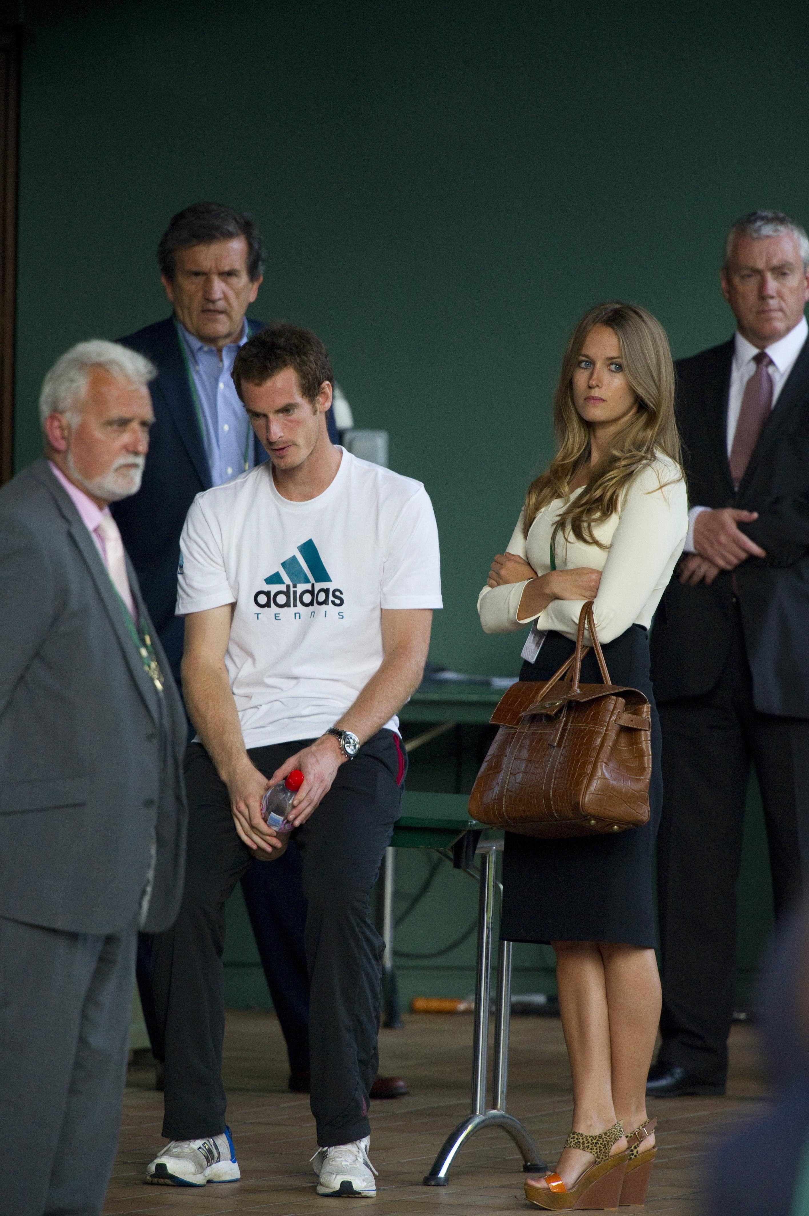Dejected Murray and Sears after losing the 2012 Wimbledon Final.
