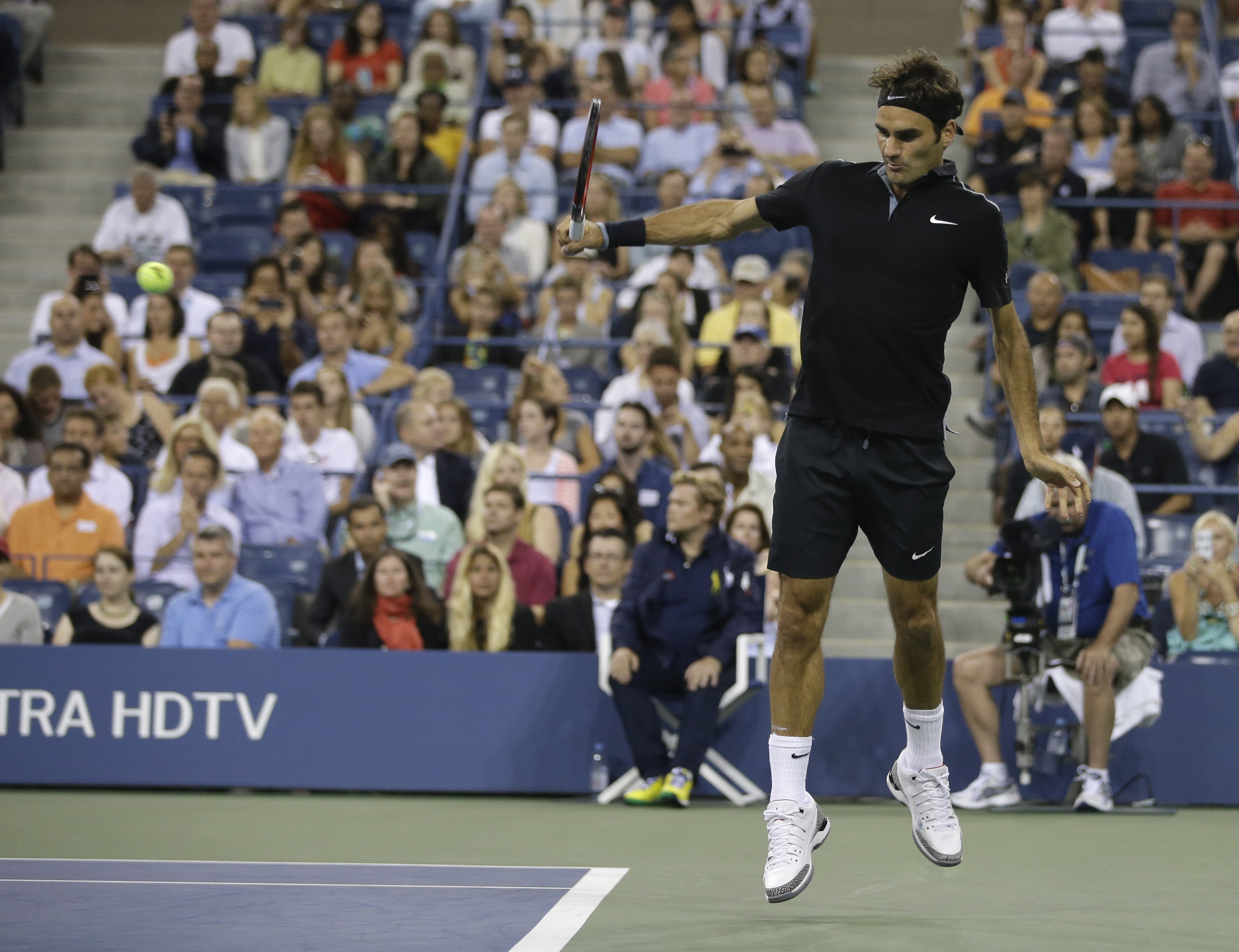 Darth Federer, version 2.0 at the U.S. Open.