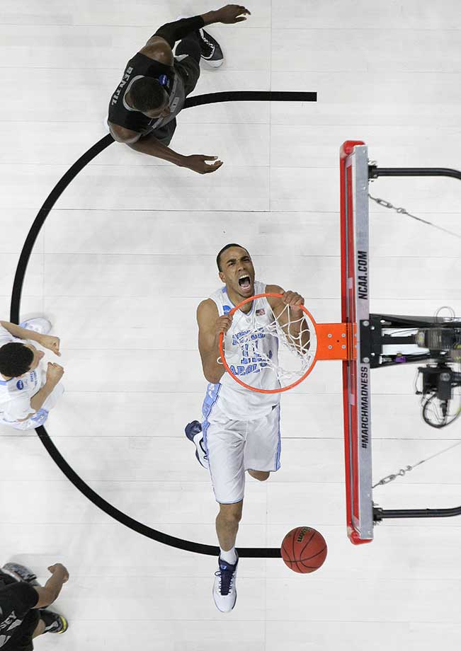 North Carolina forward Brice Johnson dunks against Providence.