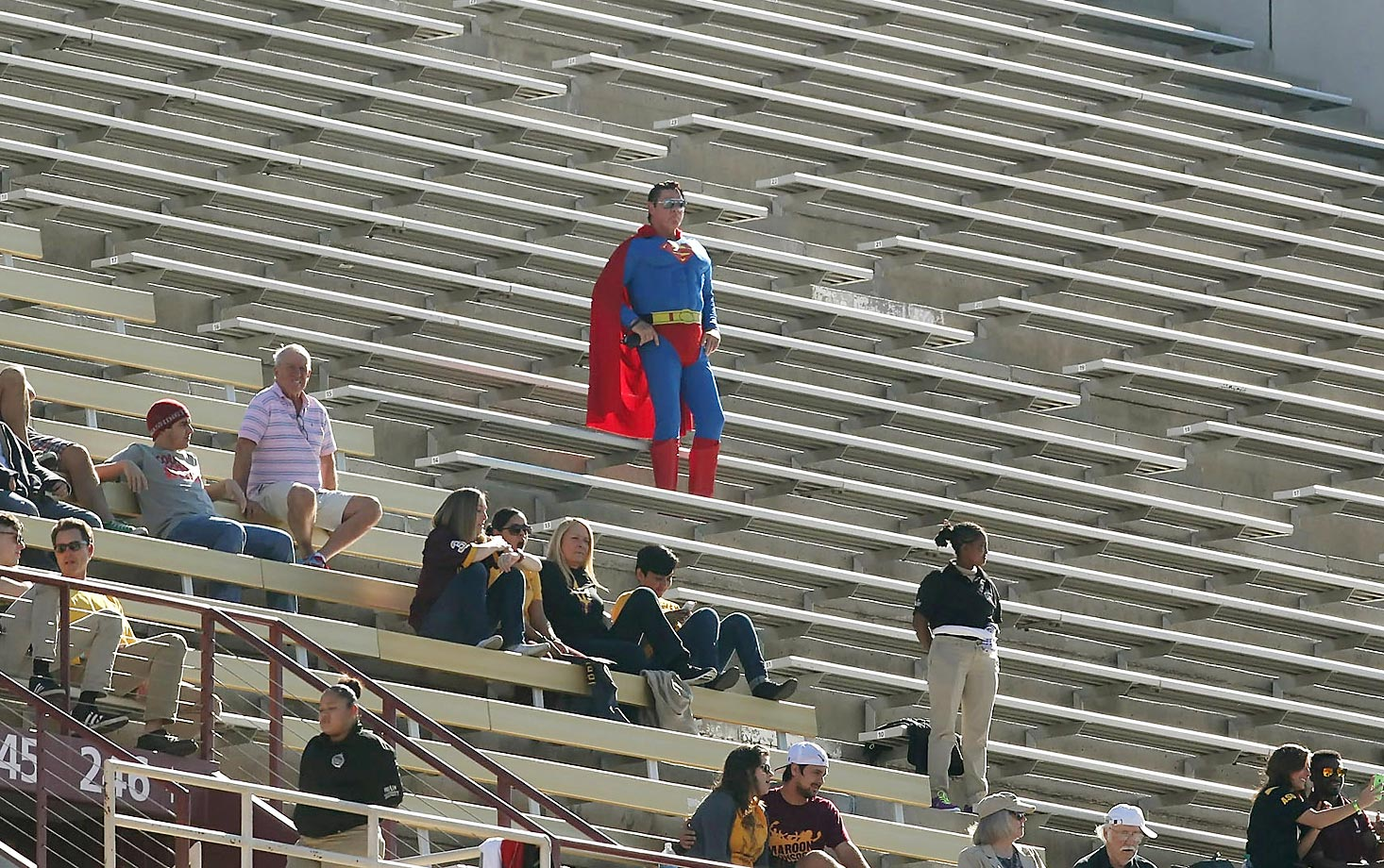 Superman was out in Arizona last week for the Arizona State game.