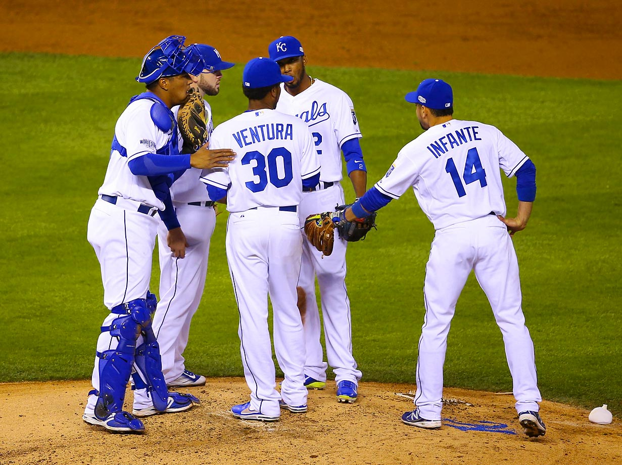 Starting pitcher Yordano Ventura seemed to get stronger as the game went on.