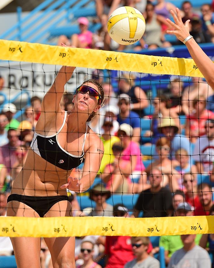 Kelley Larsen, a 2014 AVCA Collegiate Sand Volleyball All-America, won her first AVP tour tournament.