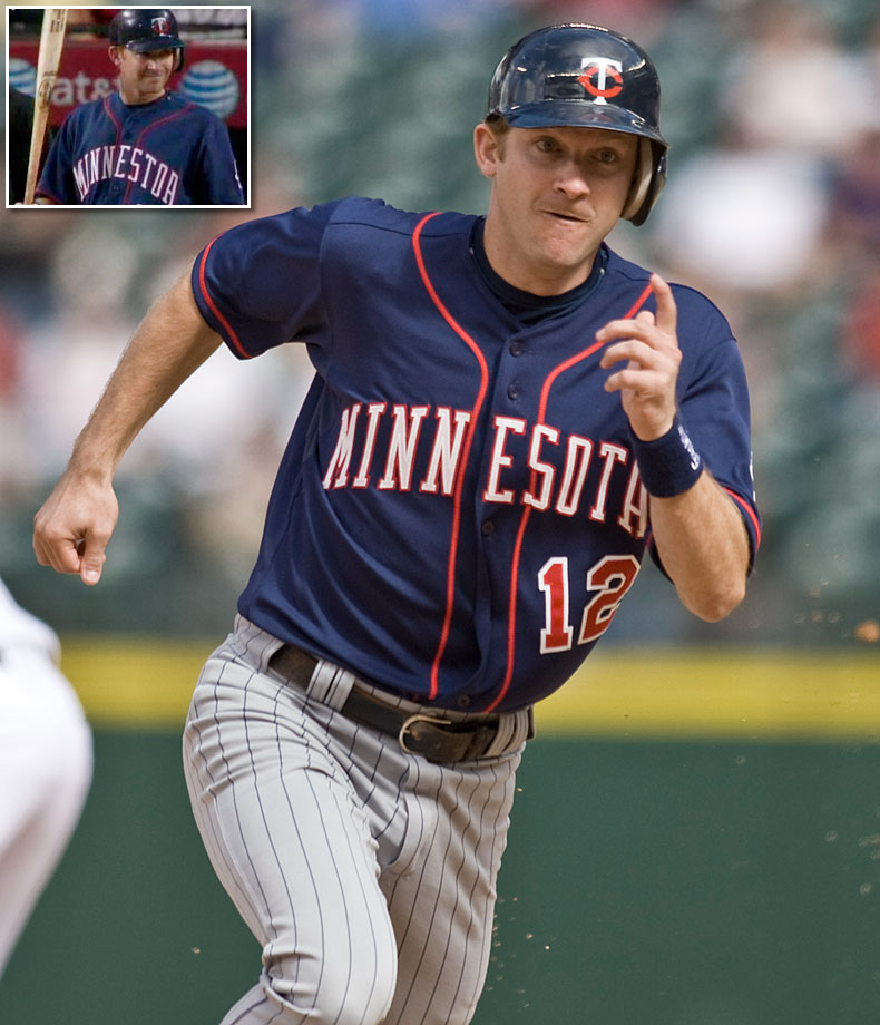 "Twins shortstop Adam Everett wore a jersey with his team's state misspelled ""MINNESTOA"" for five innings in a game against the Angels in Los Angeles on Aug. 22, 2008."