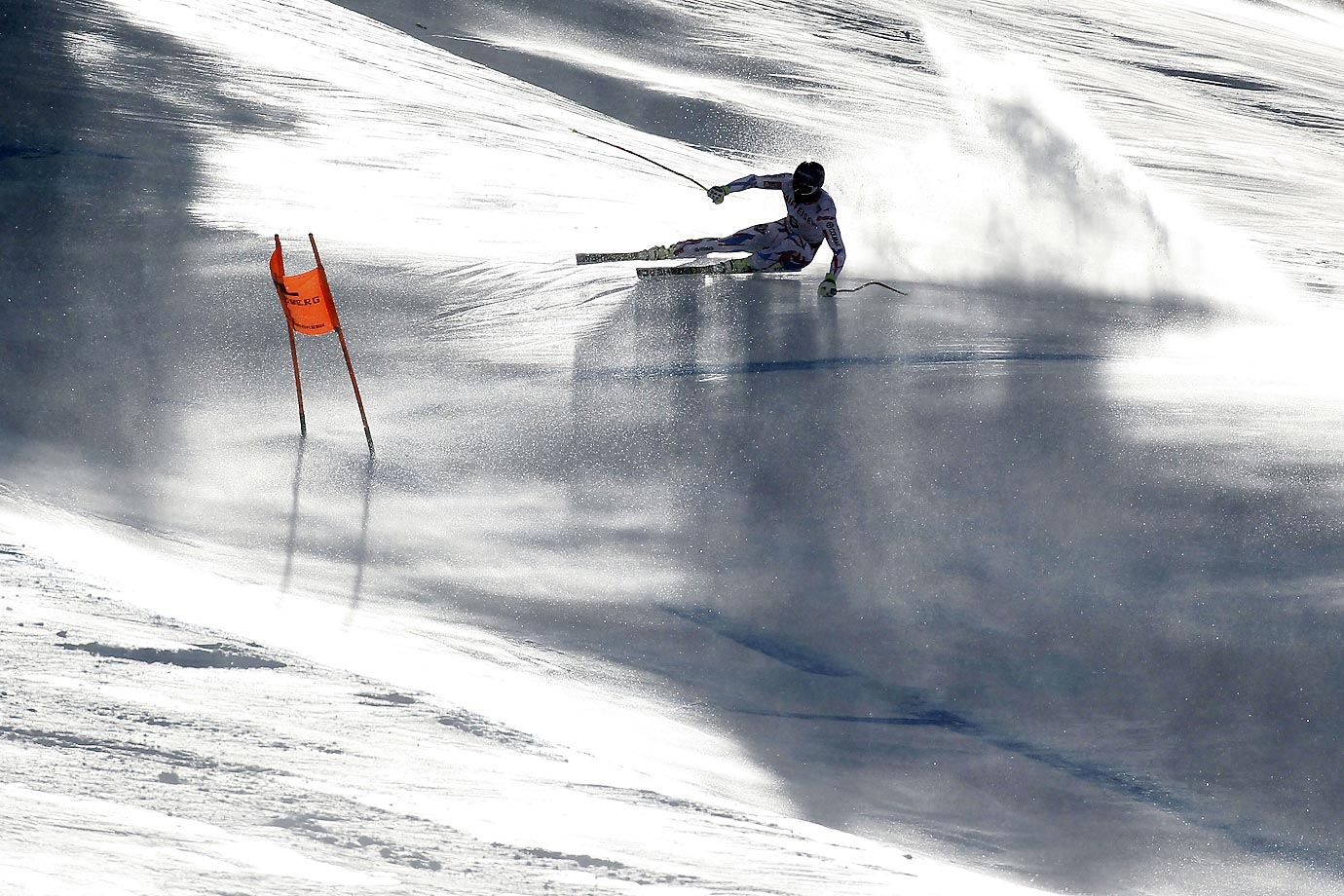 Adrien Theaux of France during the FIS Alpine World Ski Championships Downhill in Beaver Creek, Colo.