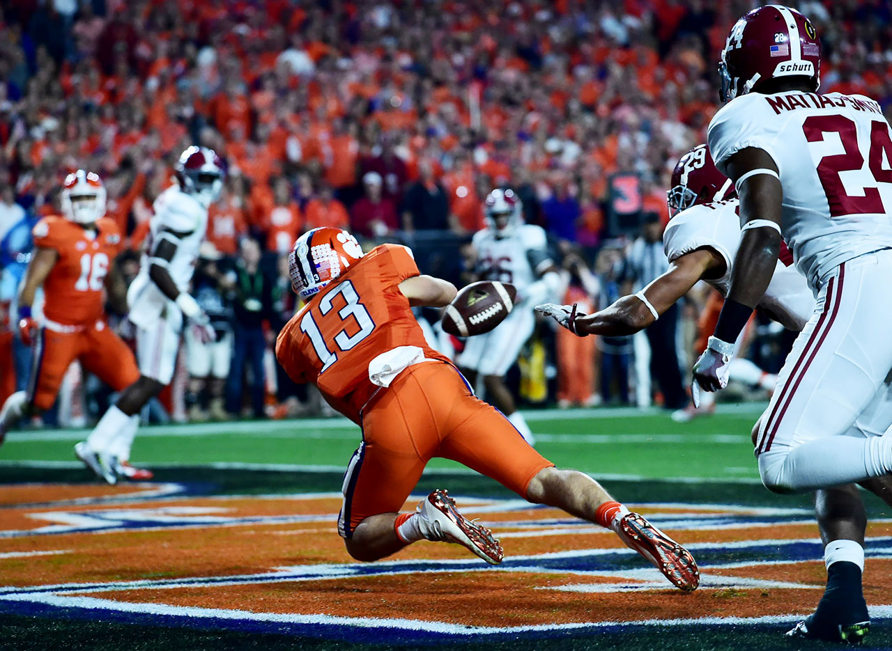 Hunter Renfrow ended the night with a team-high seven catches, for 88 yards.