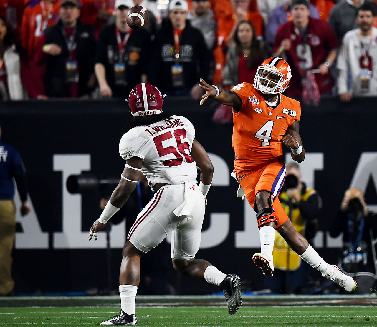 Clemson and DeShaun Watson came into the game with a 14-0 record and a No. 1 ranking. The Tigers led 24-21 after three quarters but were undone in final period.