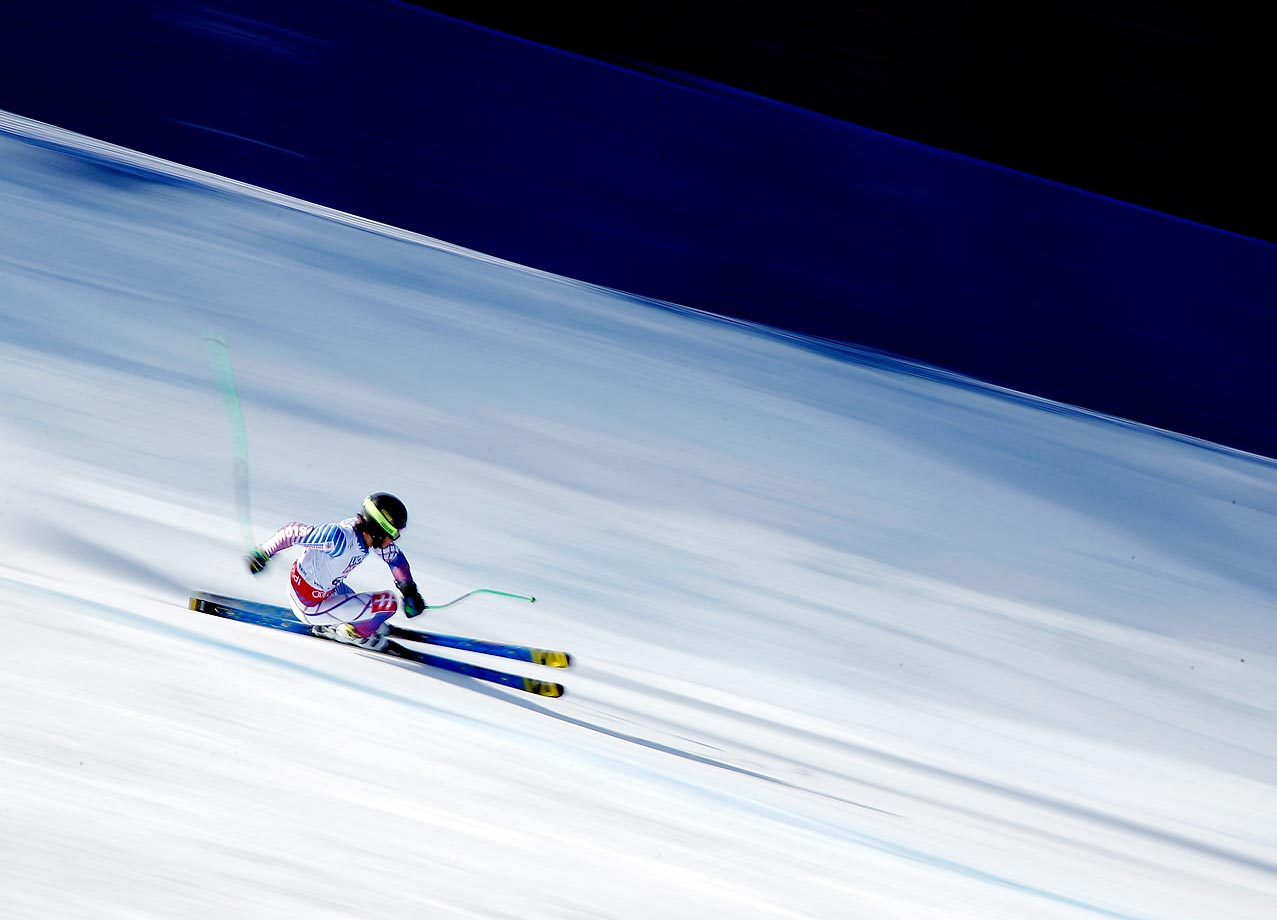 Andreas Zampa of Slovakia races during the Super-G on the Birds of Prey racecourse in Beaver Creek, Colo.