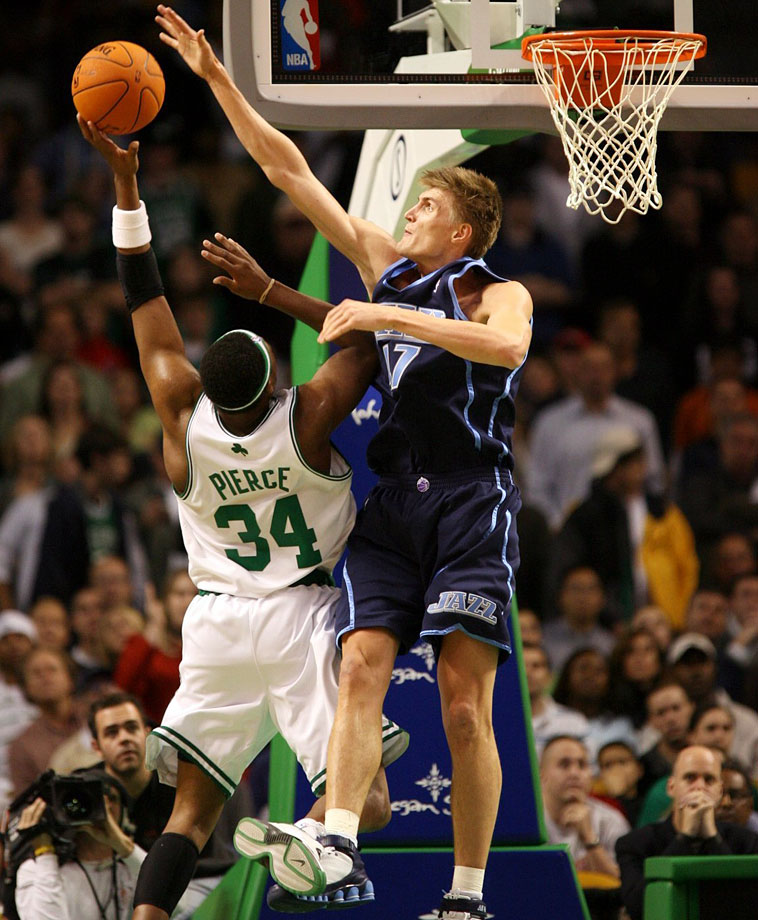 Kirilenko, 34, was a first-round pick of the Utah Jazz in 1999. He spent 13 seasons in the NBA, including 10 with the Jazz, one with the Minnesota Timberwolves and two with the Brooklyn Nets. A 6-foot-9 forward, Kirilenko had career averages of 11.8 points, 5.5 rebounds, 2.7 assists, 1.8 blocks and 1.4 steals in the NBA. The 2004 NBA All-Star led the league in blocks (220) in 2005-06 and blocks per game (3.3) in 2004-05.