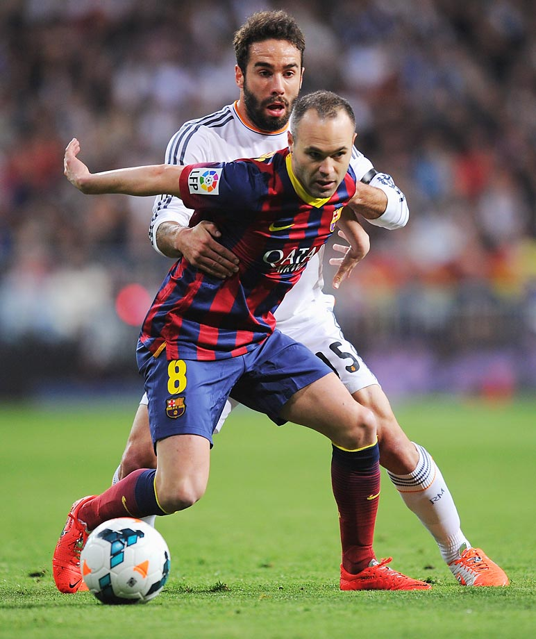 With Cesc Fàbregas playing a larger role in central midfield for Barcelona under Tata Martino, Iniesta had to find a way to impact the game from a different spot. As a result, he became a left-winger in Barça's 4-3-3 that thrives on overloading the middle and providing killer through passes to the forward line.