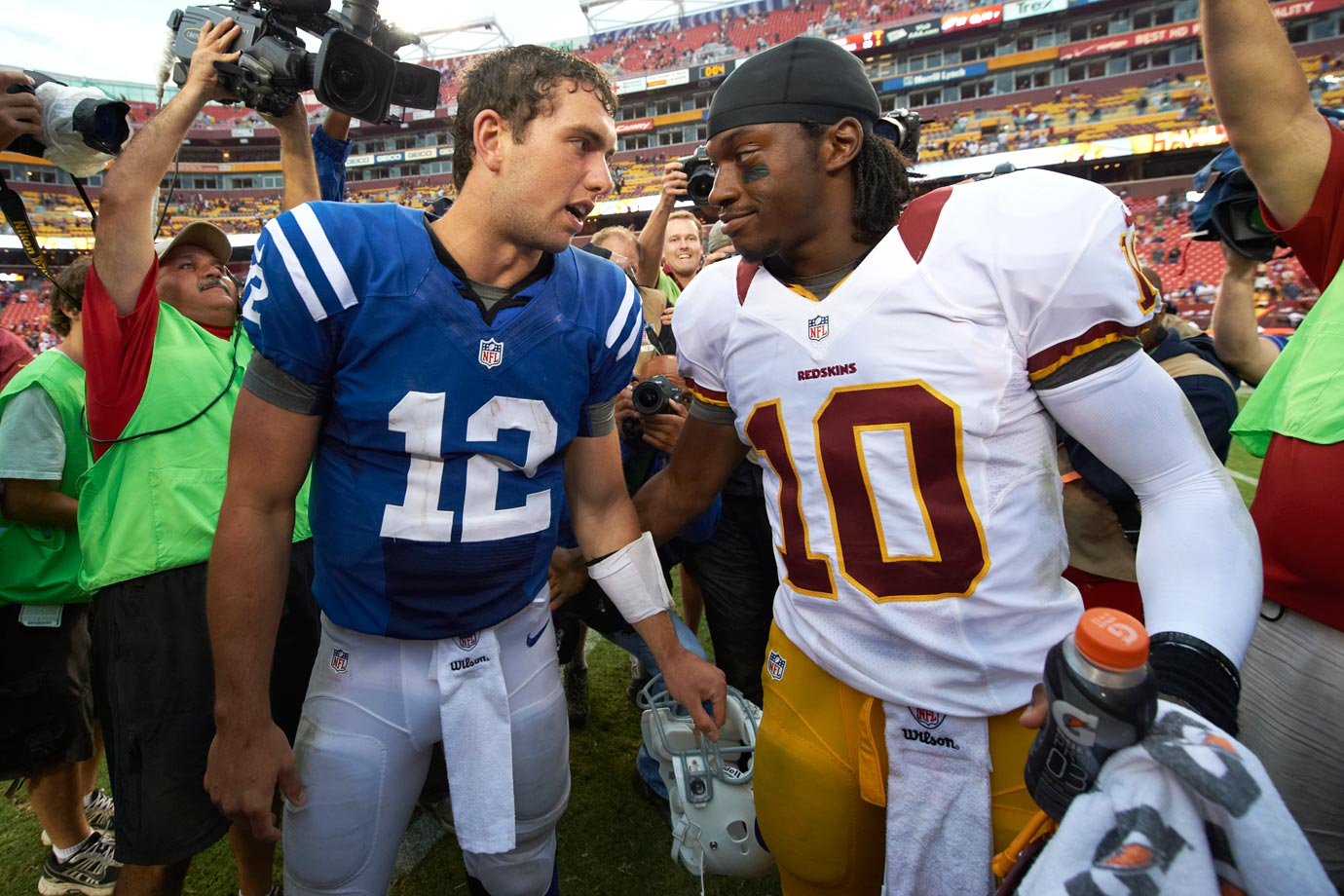 2012: 1—Andrew Luck (Indianapolis Colts),  2—Robert Griffin III (Washington Redskins)