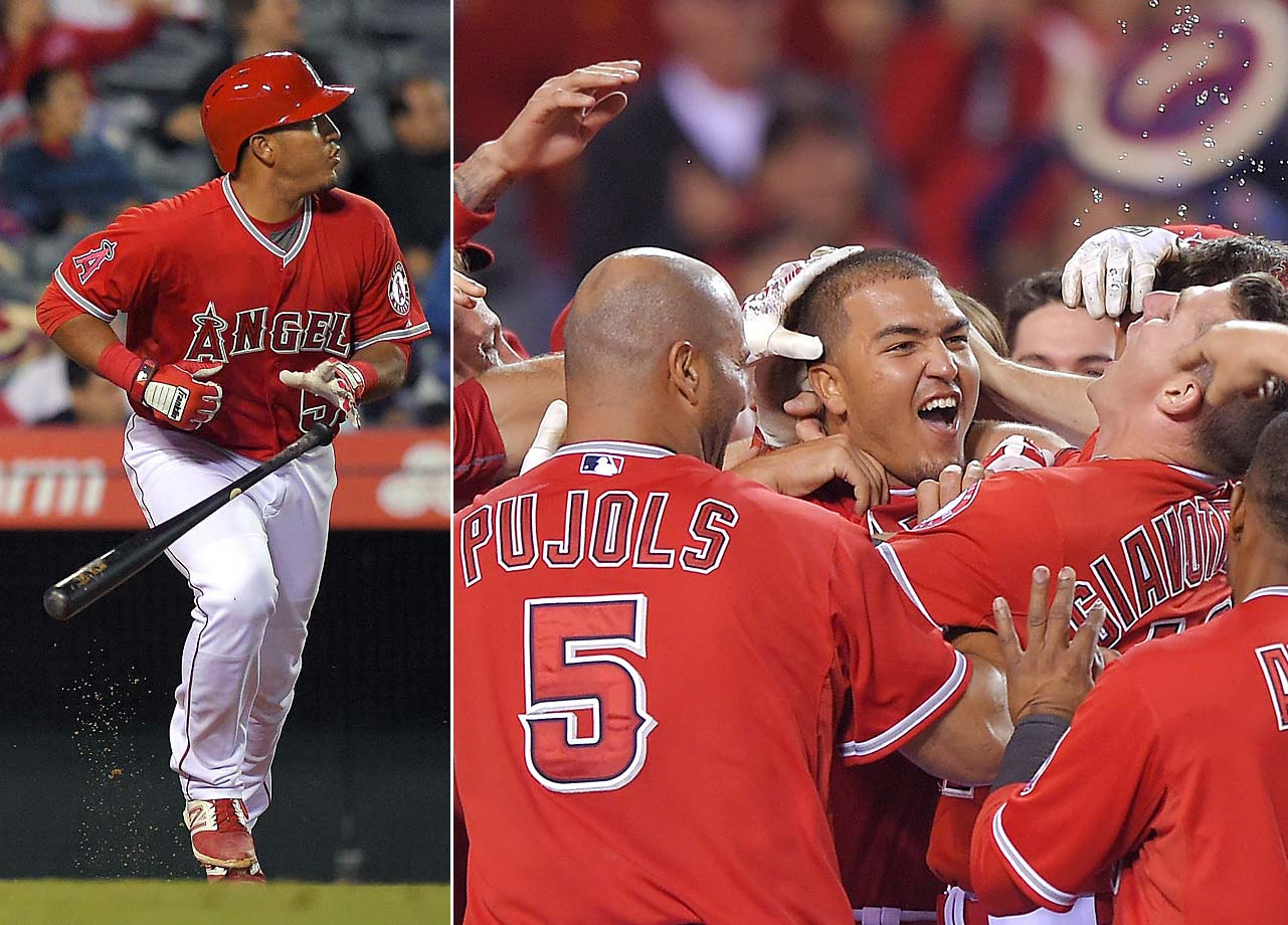 Carlos Perez's walk-off during the ninth inning of a May 5 game against Seattle propelled the Angels to a 5-4 win.