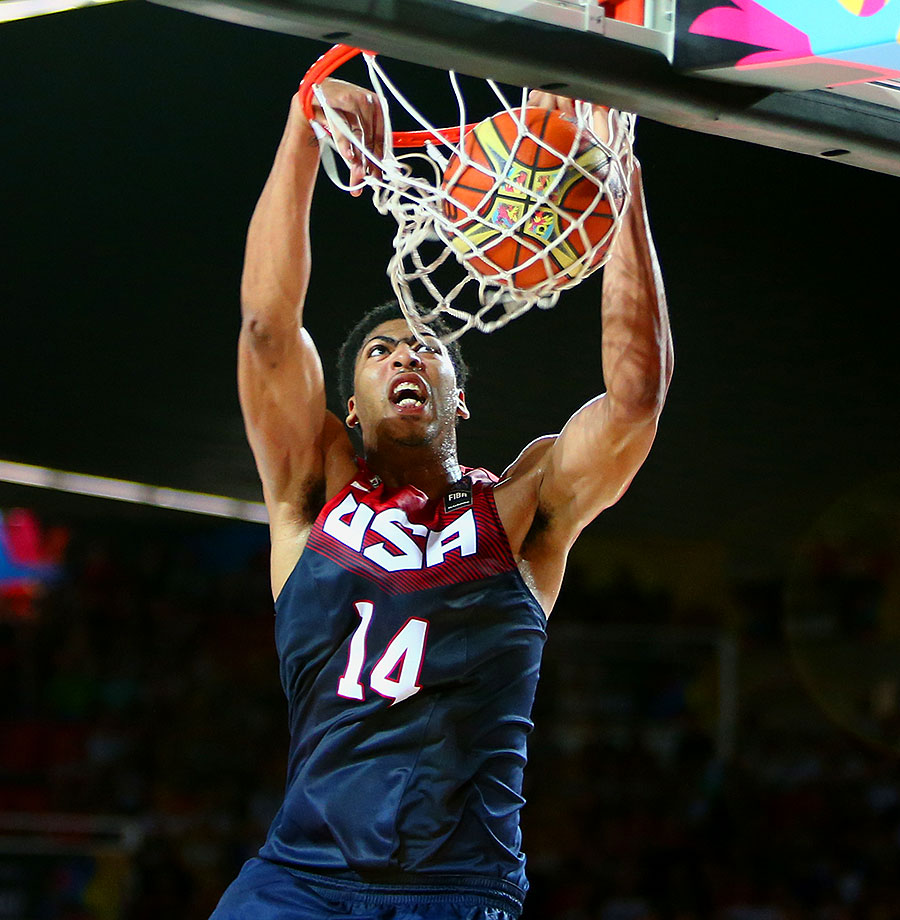 During the 2012 London Olympics, the teenaged Davis was just along for the ride as an injury fill-in, looking like everyone's kid brother and playing only spot minutes. A lot has changed since then, with Davis emerging as one of the stars of the 2014 FIBA World Cup team that won gold in Spain before earning All-NBA First Team honors and leading the Pelicans to the playoffs for the first time during his career. Although Davis isn't necessarily the second-best player in the NBA—that title is fair game for debate—he's fully deserving of the second spot on this list. USAB needs a versatile, athletic and fluid big man to establish its defense-first, up-tempo style, and Davis, now 22, is more than up to that task as this roster's starting center.