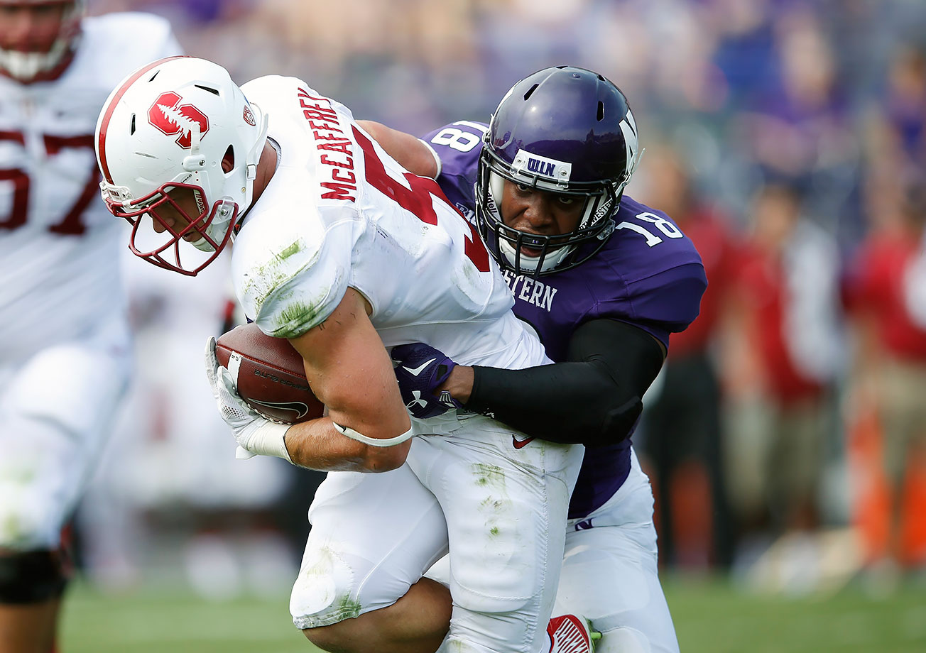 The third-leading tackler in the Big Ten was a force for the Wildcats in 2015, finishing with 120 tackles and appearing in all 13 games. He added four sacks, one interception and one forced fumble en route to a first-team All-Big Ten selection. Walker led Northwestern to a 13th-ranked scoring defense and a 10–3 record despite the offense that averaged just 22.5 points per game.